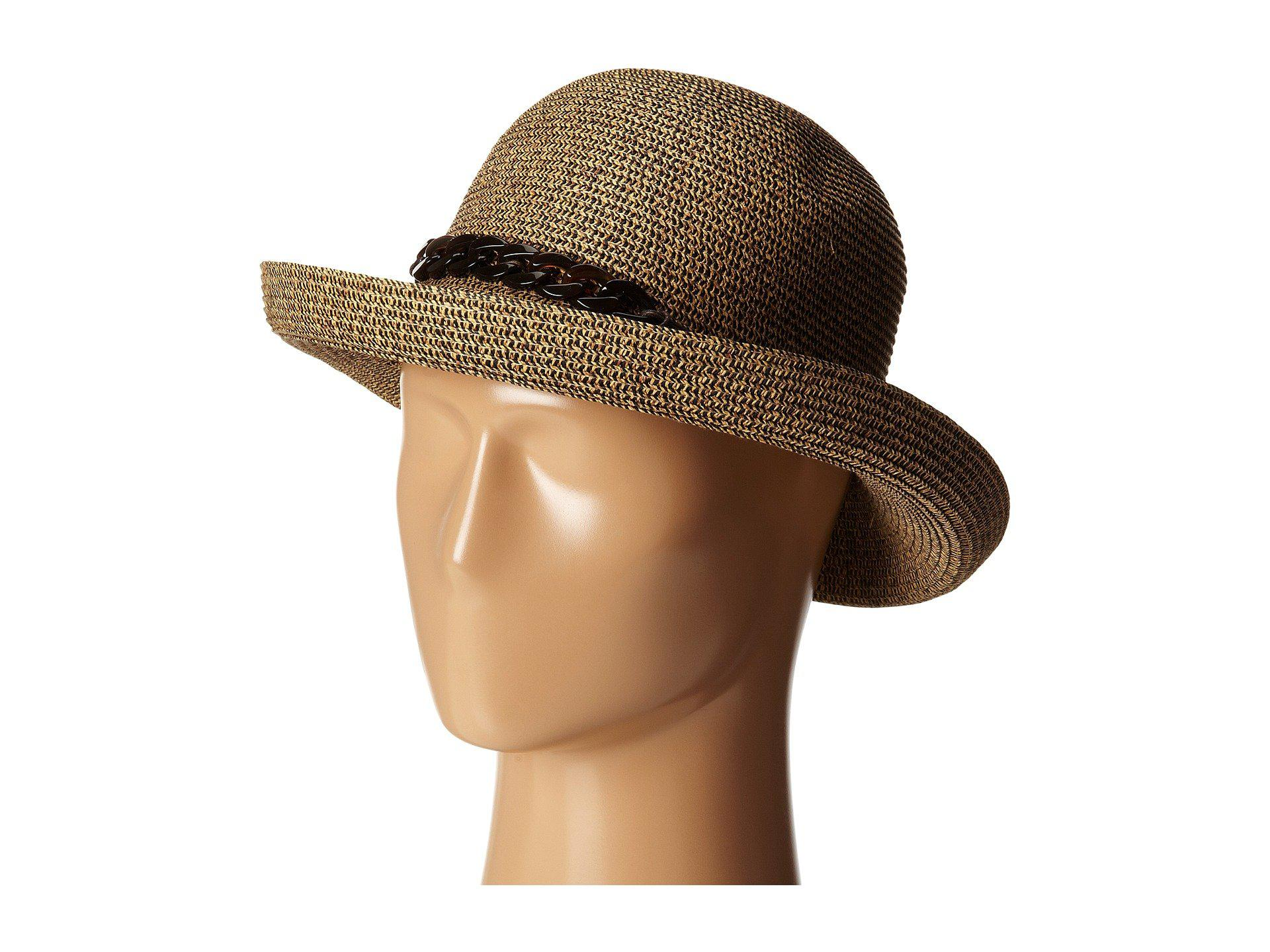 09a257e2f24 San Diego Hat Company. Women s Brown Ubm4440 Kettle Brim W  Tortoise Shell  Chain (mixed Black) Caps
