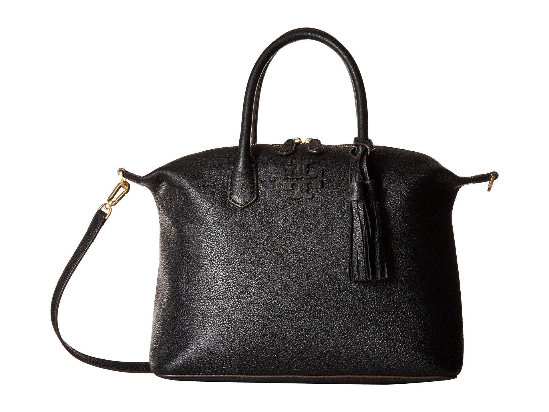 b51ce7c812b4 Lyst - Tory Burch Mcgraw Slouchy Satchel (black) Satchel Handbags in ...