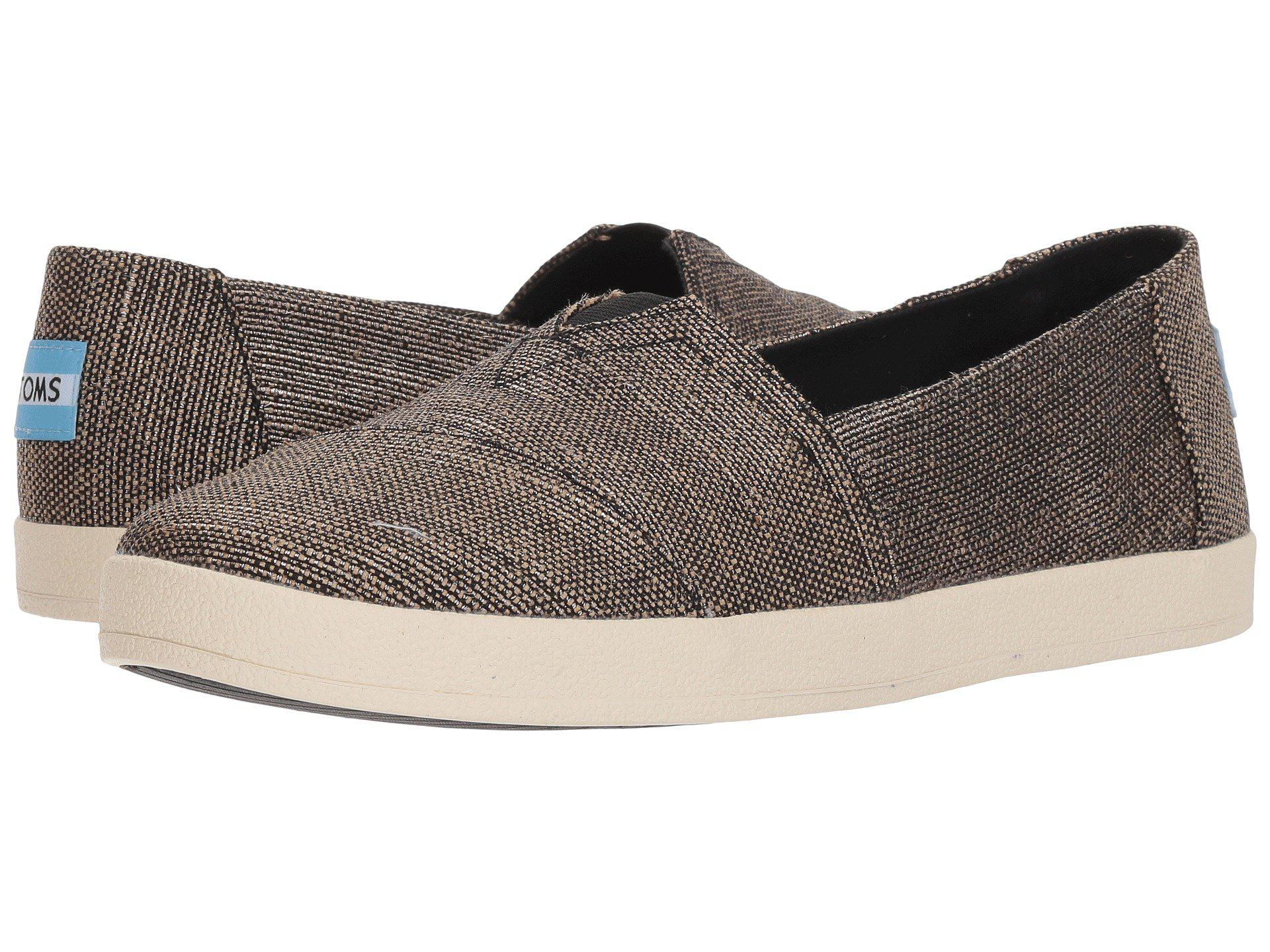 d1f29f73f00 Lyst - TOMS Avalon (bloom Slubby Cotton) Women s Shoes in Black