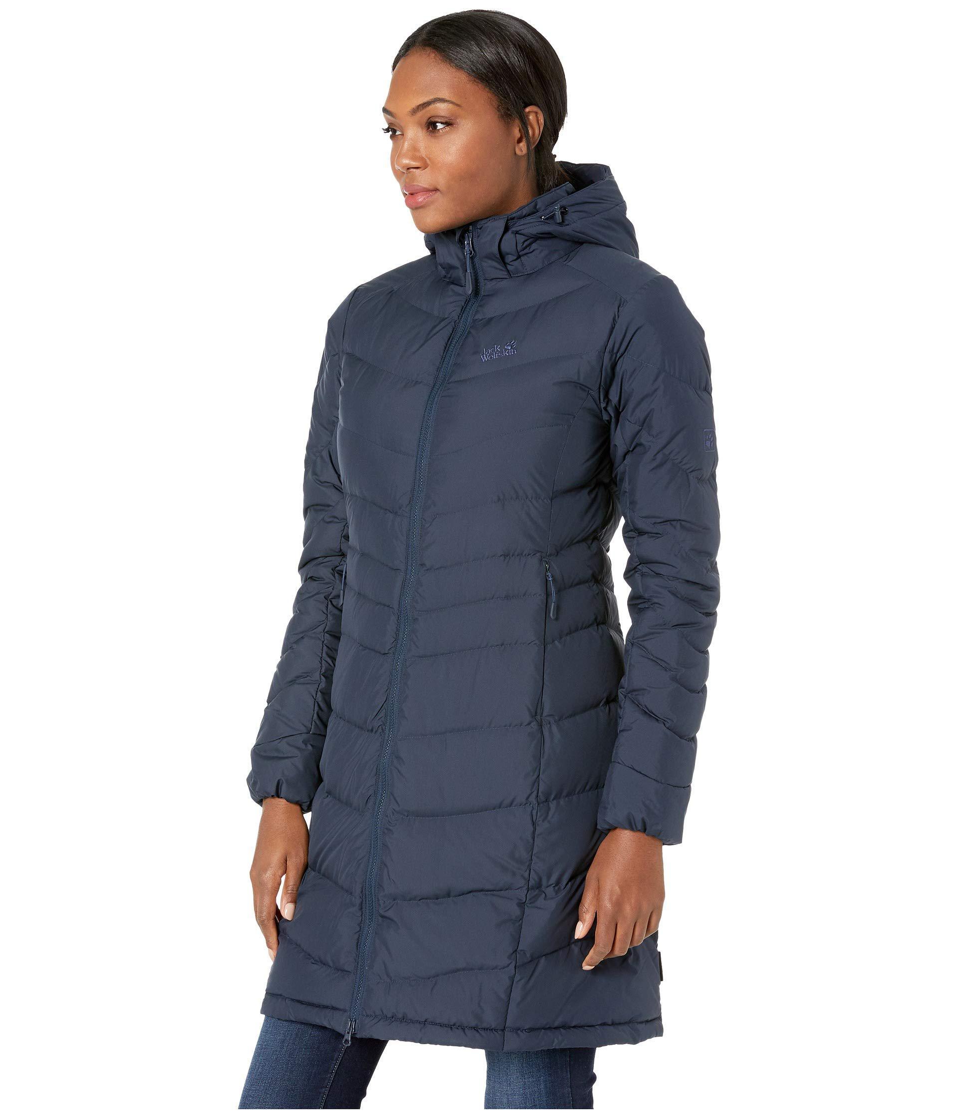 a69eb3cd5d9 Jack Wolfskin Selenium Coat (midnight Blue) Women's Coat in Blue - Lyst