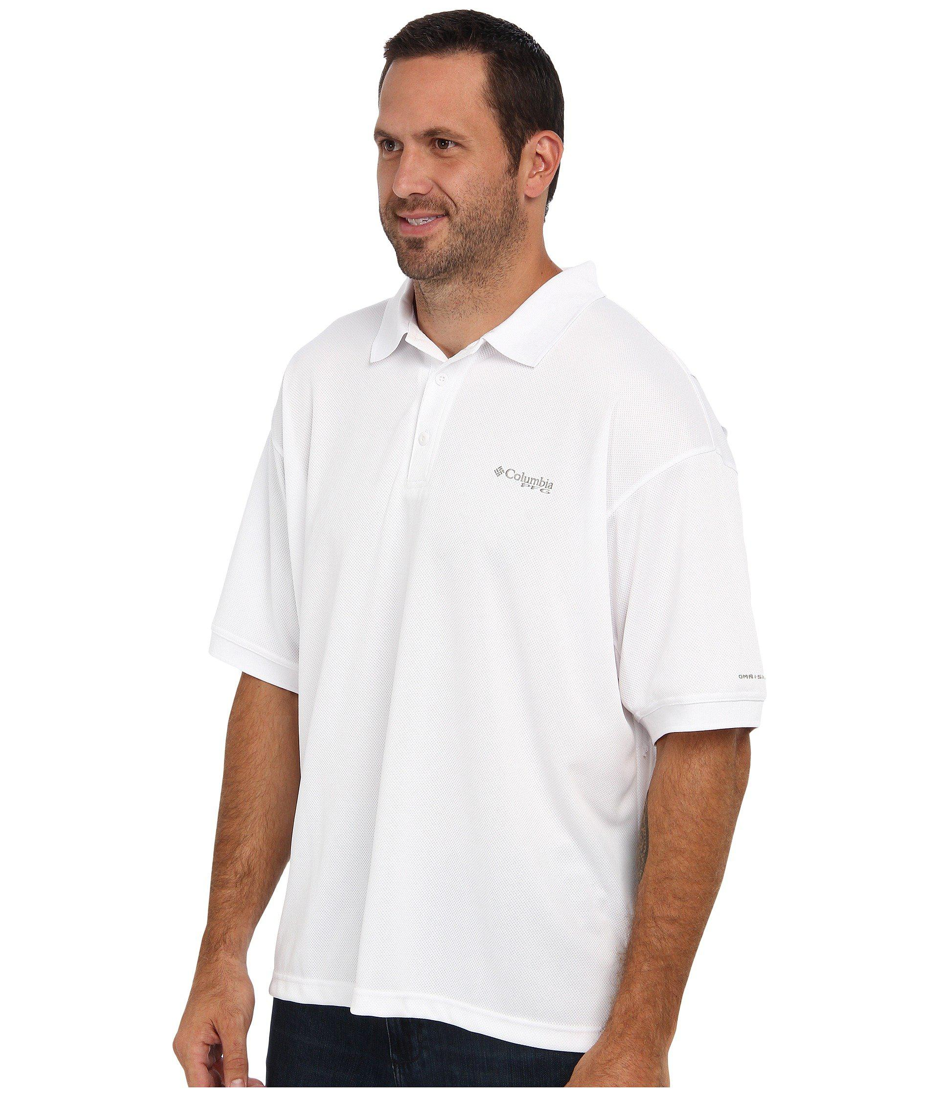 ea7cd2cc5 Lyst - Columbia Big Tall Perfect Casttm Polo (black) Men's Clothing in  White for Men