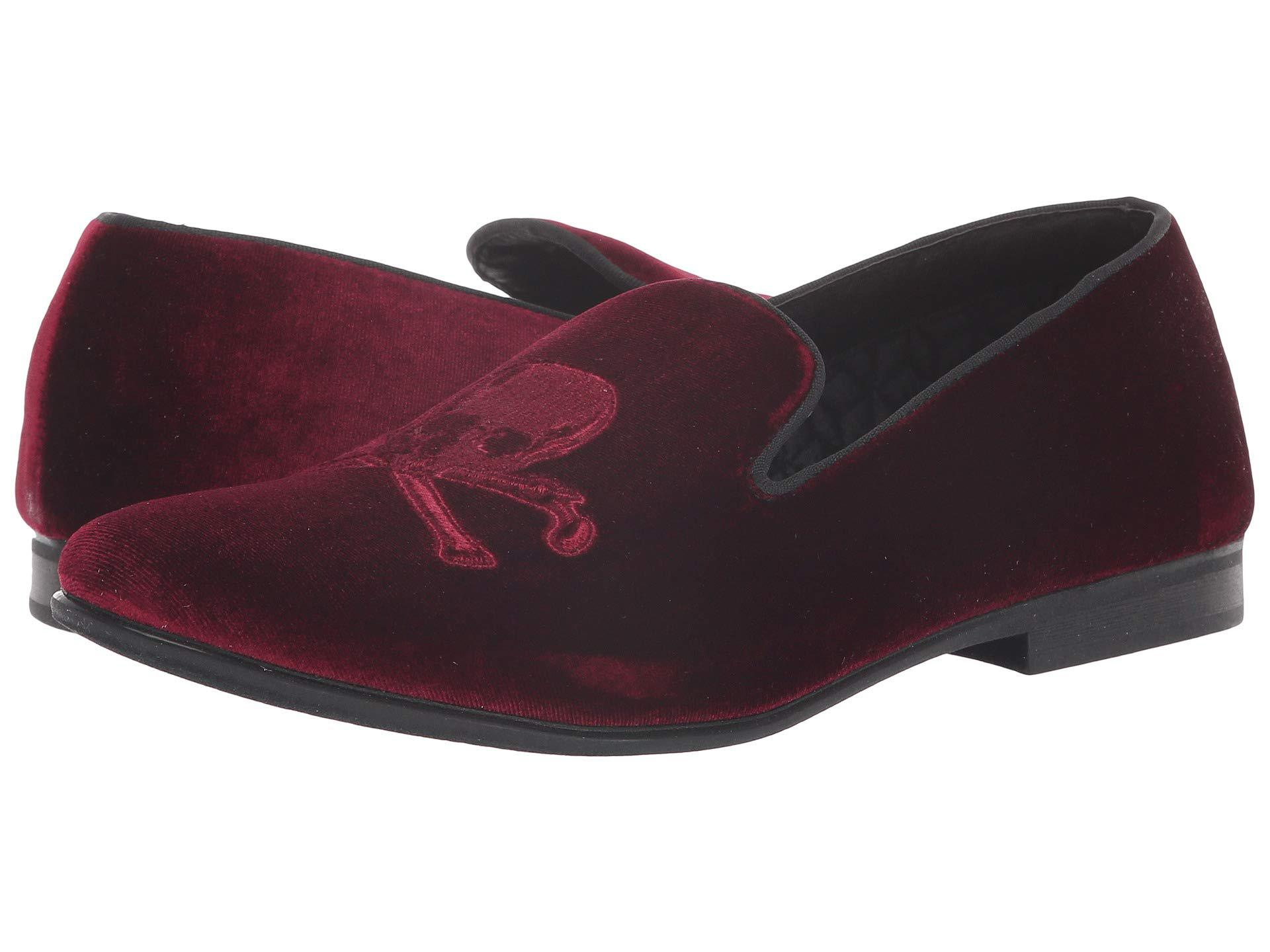 1ba7b81ef33d Lyst - Steve Madden Cranium (burgundy Velvet) Men s Slip On Shoes ...