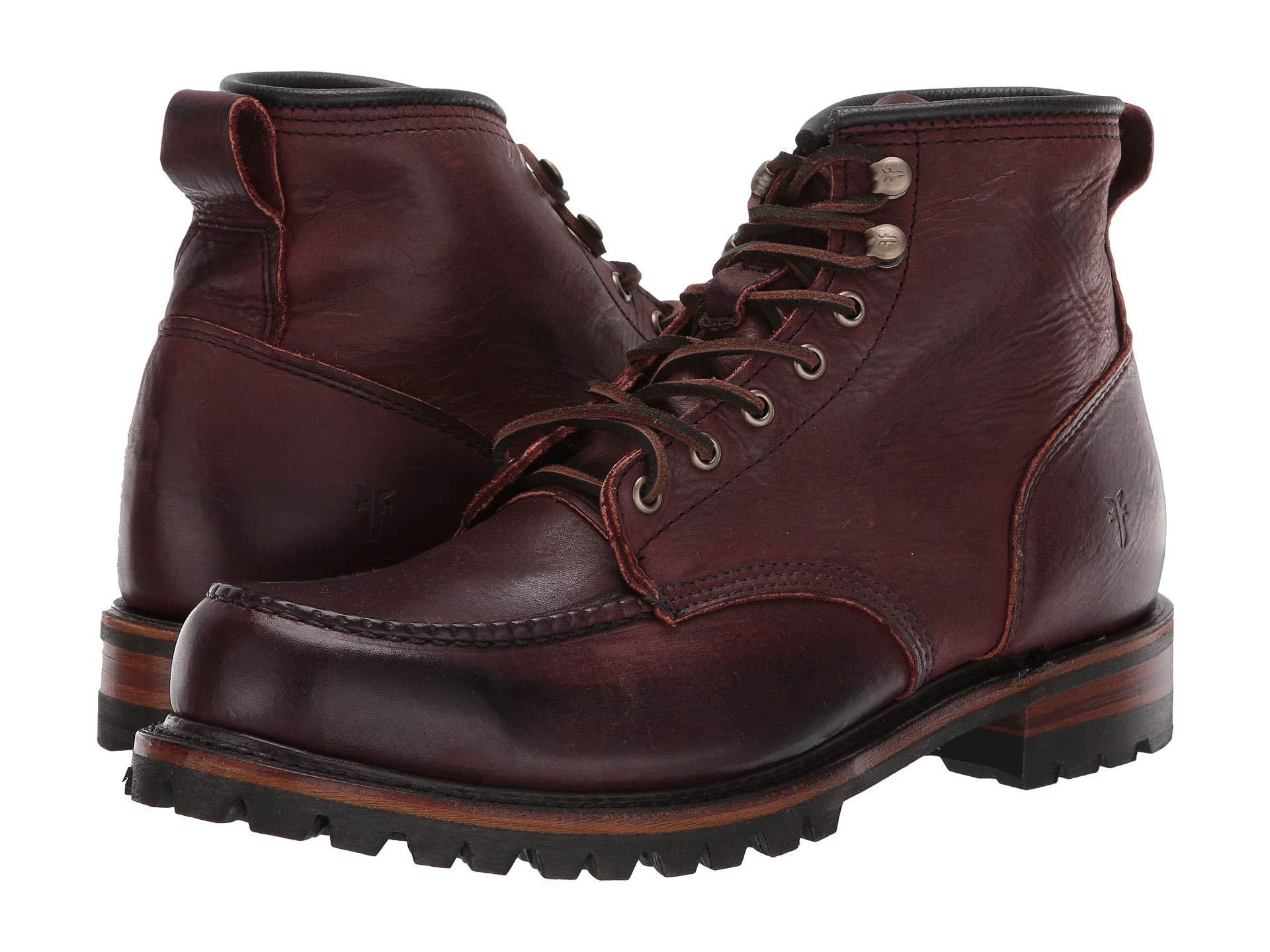 02a295cee5dec Lyst - Frye Penn Lug Moc Workboot (black Oiled Vintage) Men's Boots ...