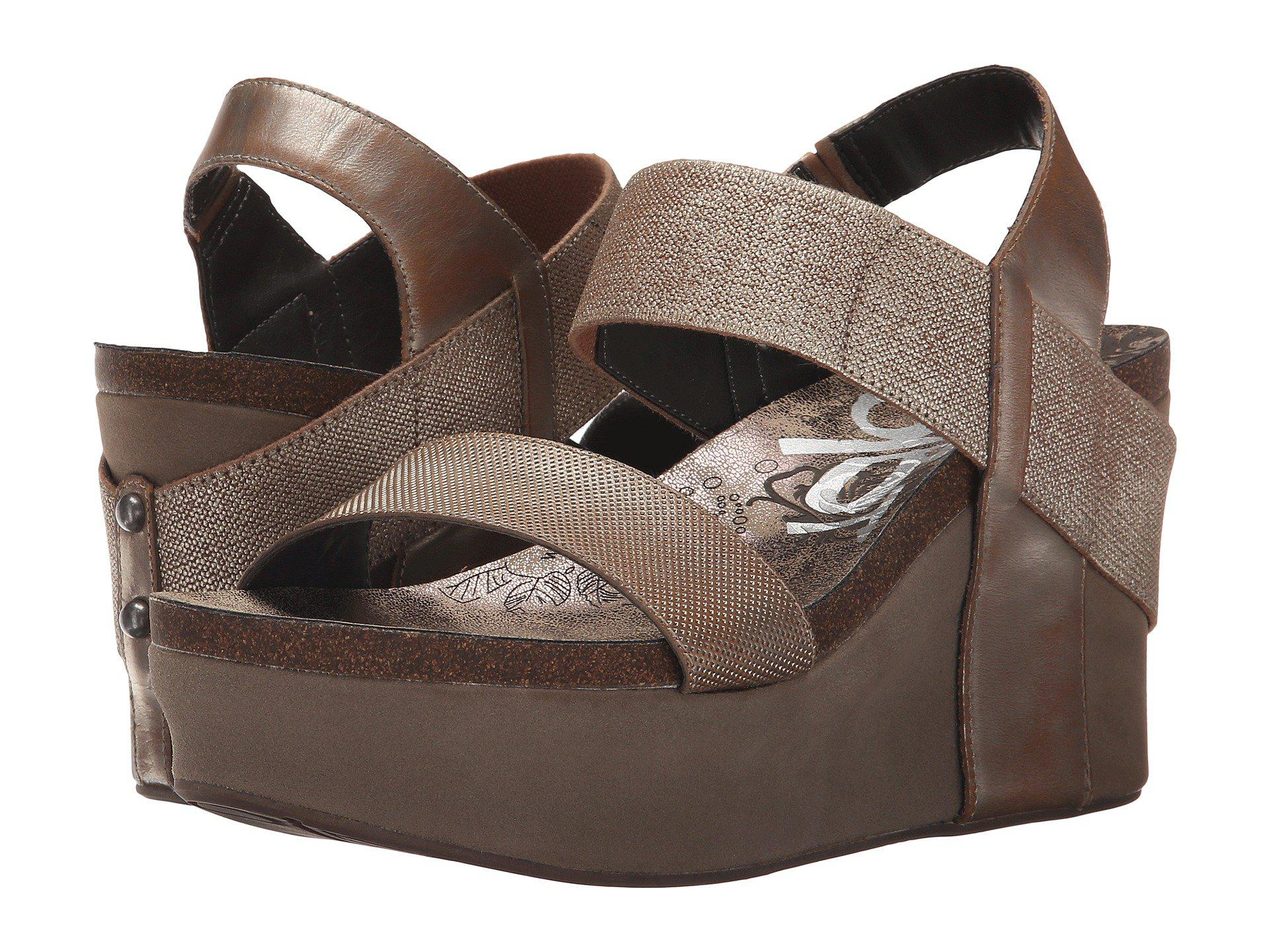 f55e42c6ddf Lyst - Otbt Bushnell (black) Women s Wedge Shoes in Natural - Save 20%