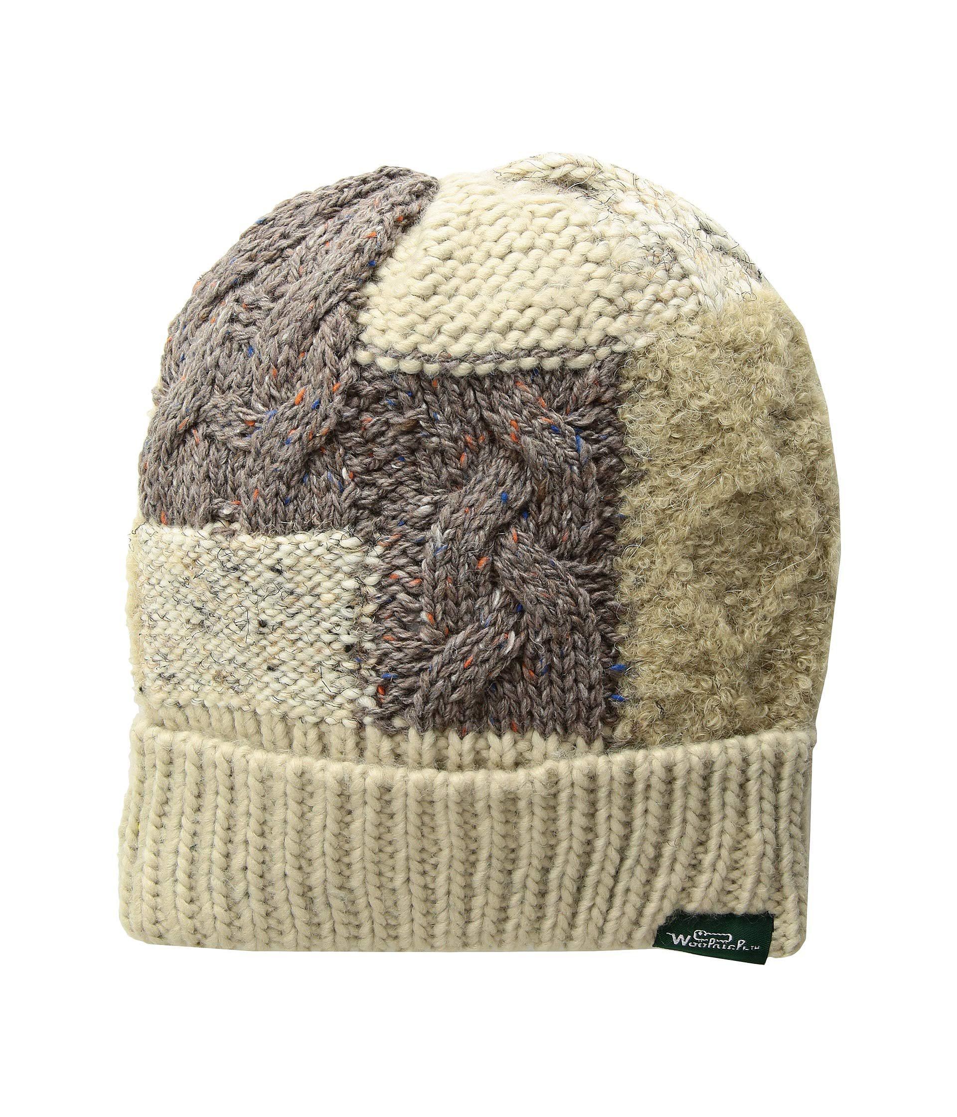 Lyst - Woolrich Knit Patch Cuff Cap (beige) Caps in Natural for Men 53c81496436f