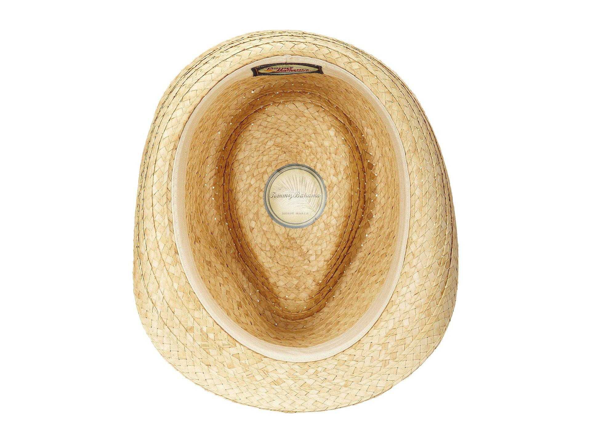 Lyst - Tommy Bahama Burned Raffia Fedora With Overlay Band X ... b6d2c740d64