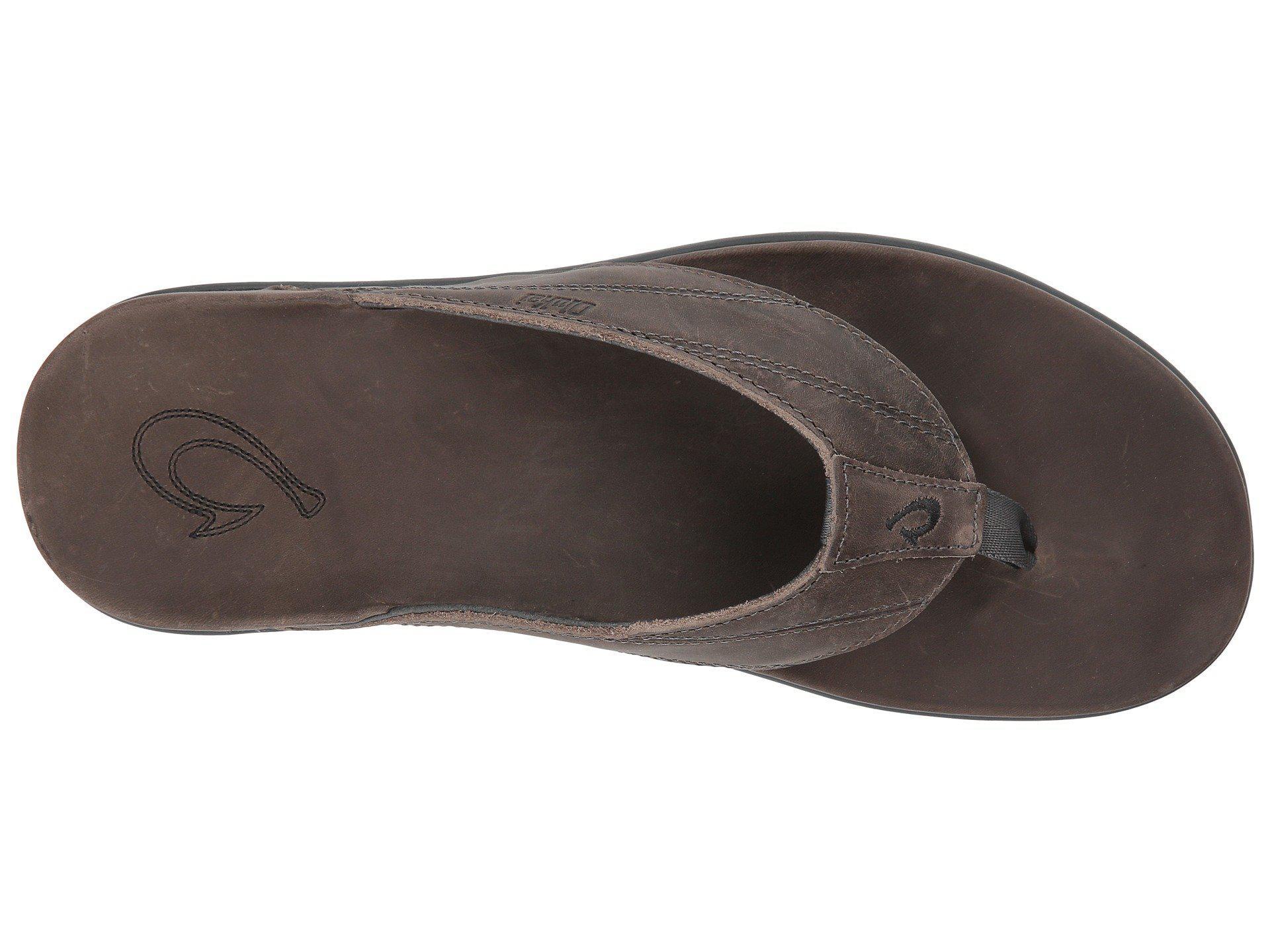 4446dd1d605e Olukai - Gray Pikoi (black black) Men s Sandals for Men - Lyst. View  fullscreen