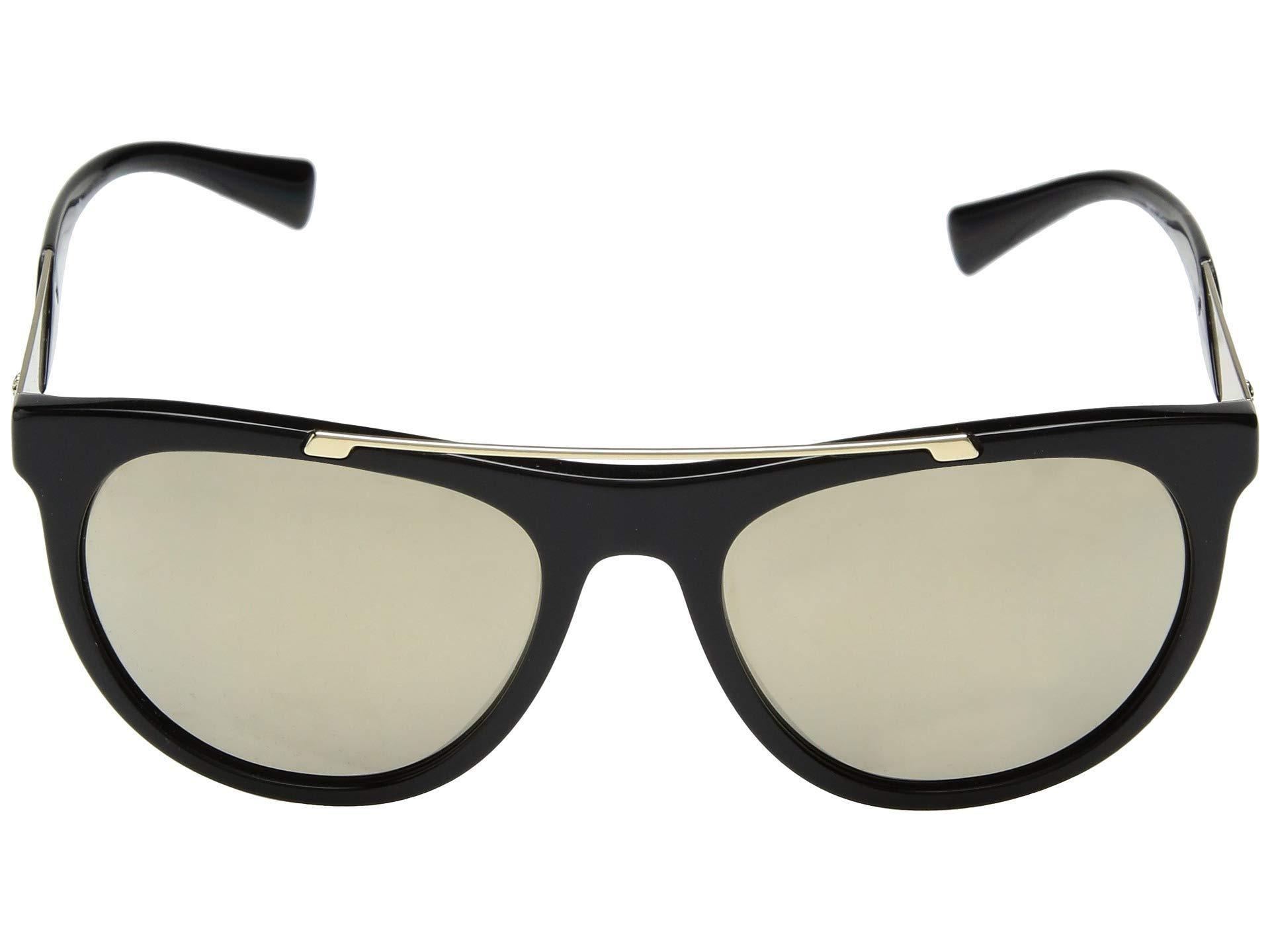 4a53619cf575 Lyst - Versace Ve4347 (black/pale Gold/light Brown Mirror) Fashion ...