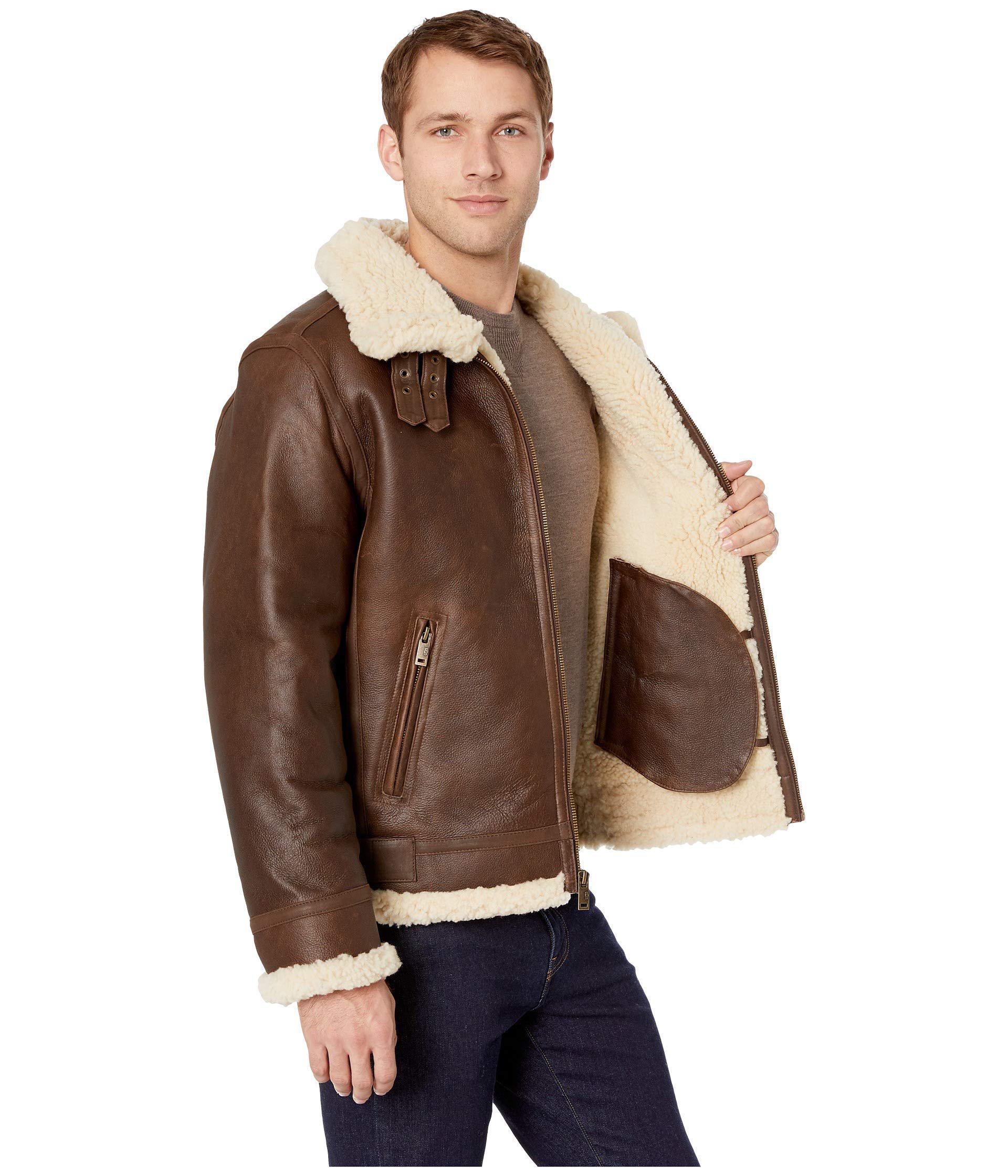 Lyst ugg auden shearling aviator jacket chestnut mens coat jpg 1920x2240 Uggs  chestnut coat e988e4687