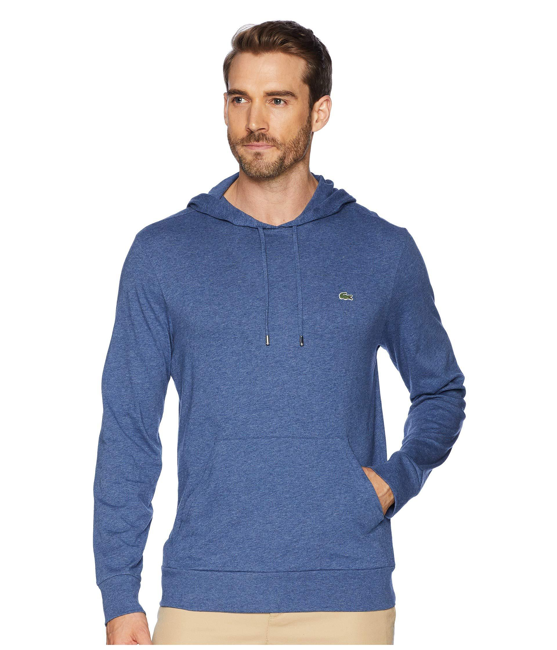 5feac2b3d591 Lyst - Lacoste Long Sleeve Hoodie Jersey T-shirt W  Central Pocket ...