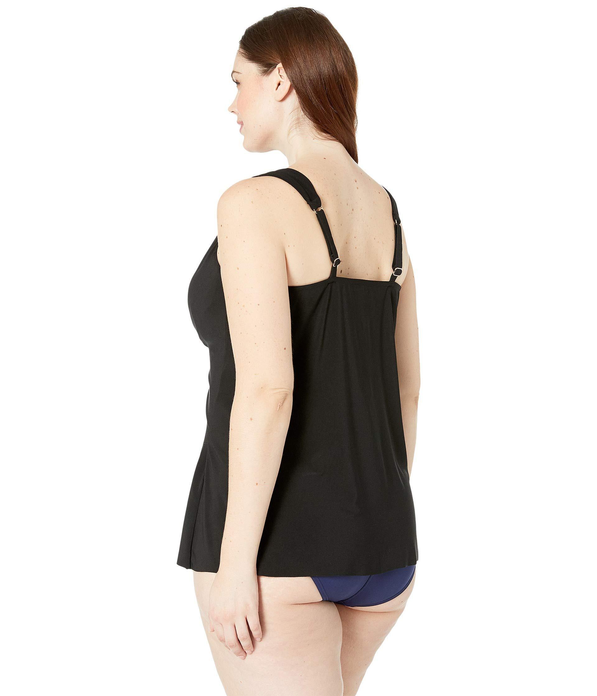 a4c58e5e51875 Miraclesuit - Plus Size Solid Dazzle Tankini Top (black) Women's Swimwear -  Lyst. View fullscreen
