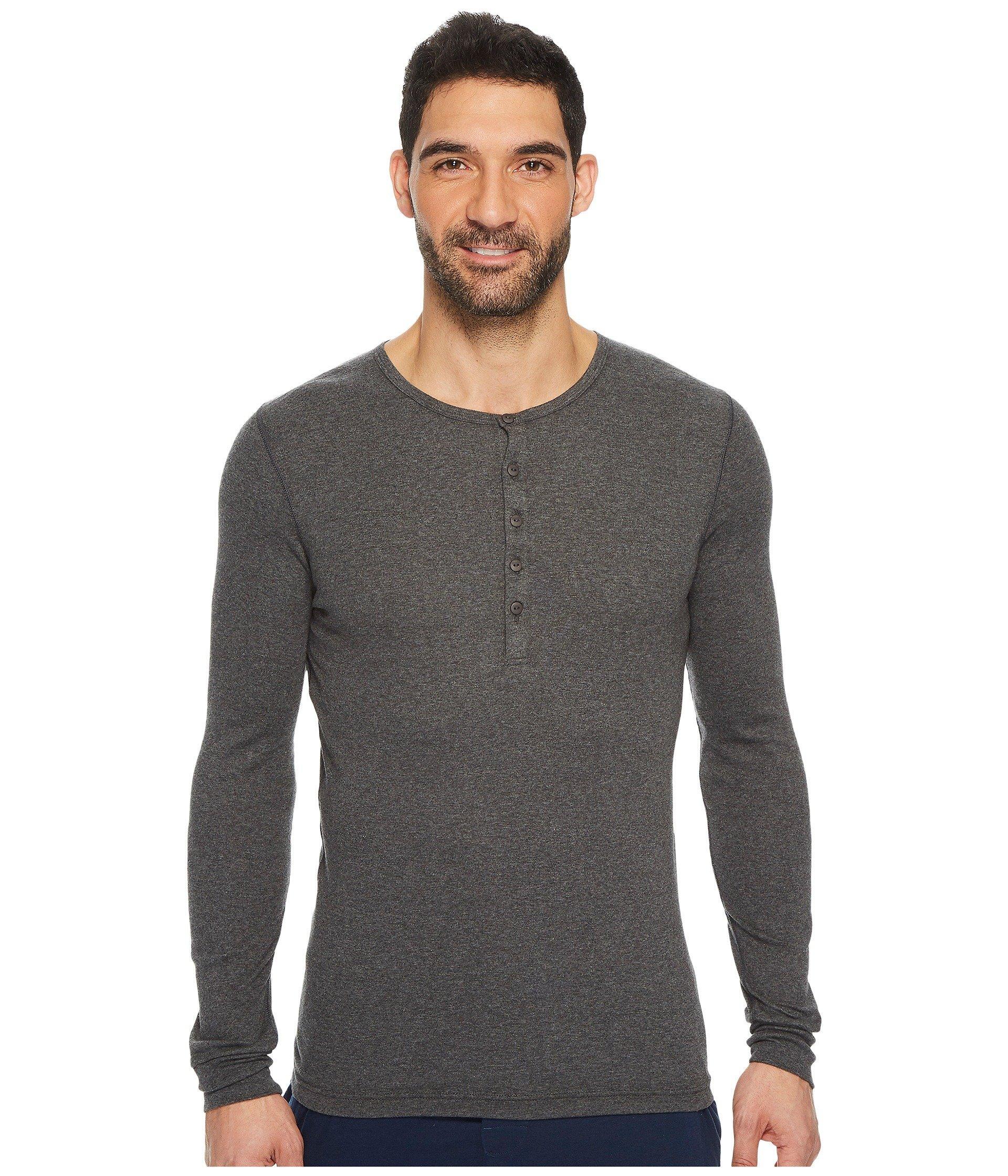 5571328b Lyst - 2xist 2(x)ist Essentials L/s Henley (black) Men's T Shirt in ...