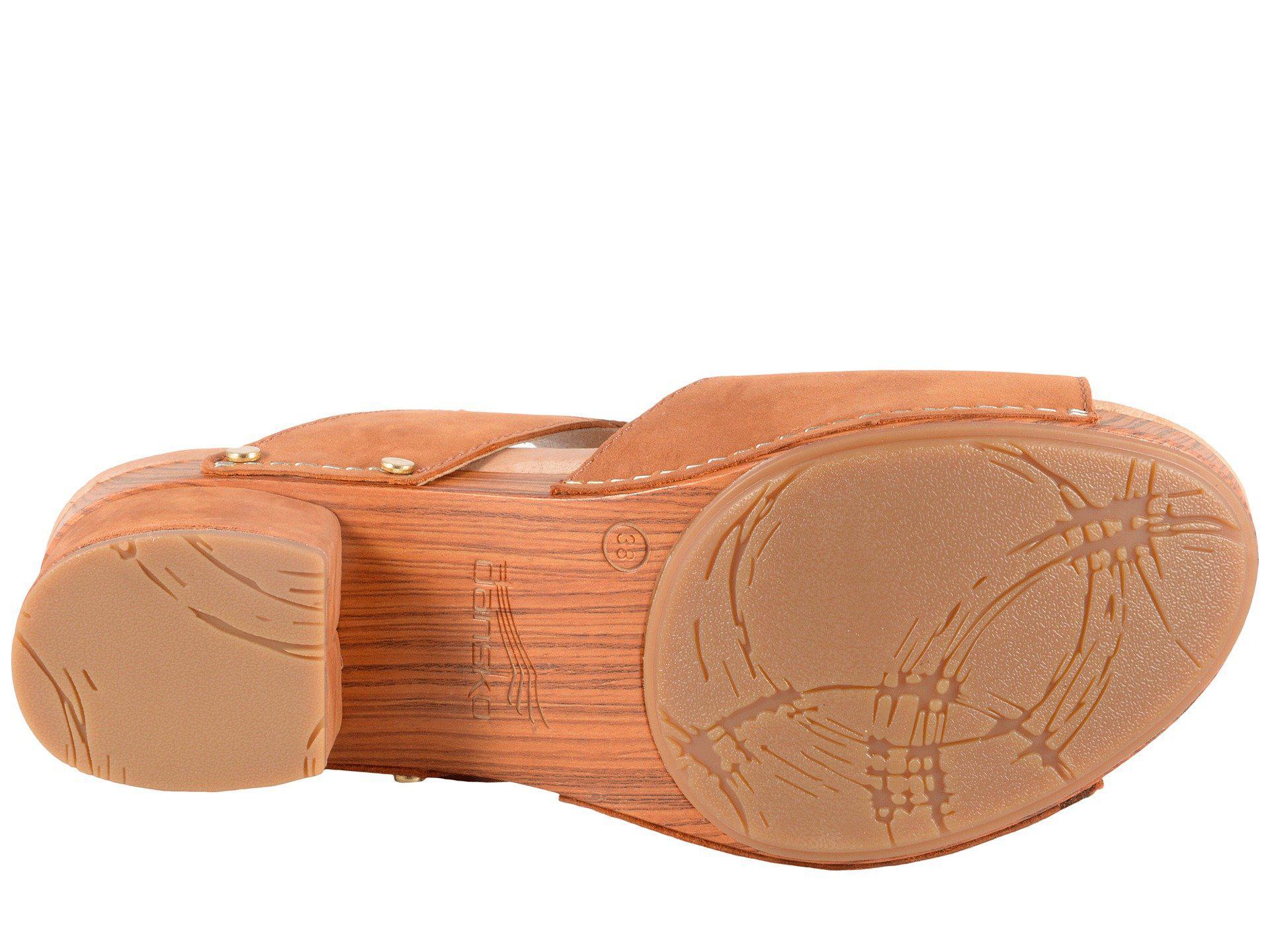 668d8220beb Dansko - Brown Minka (camel Milled Nubuck) Women s Toe Open Shoes - Lyst.  View fullscreen