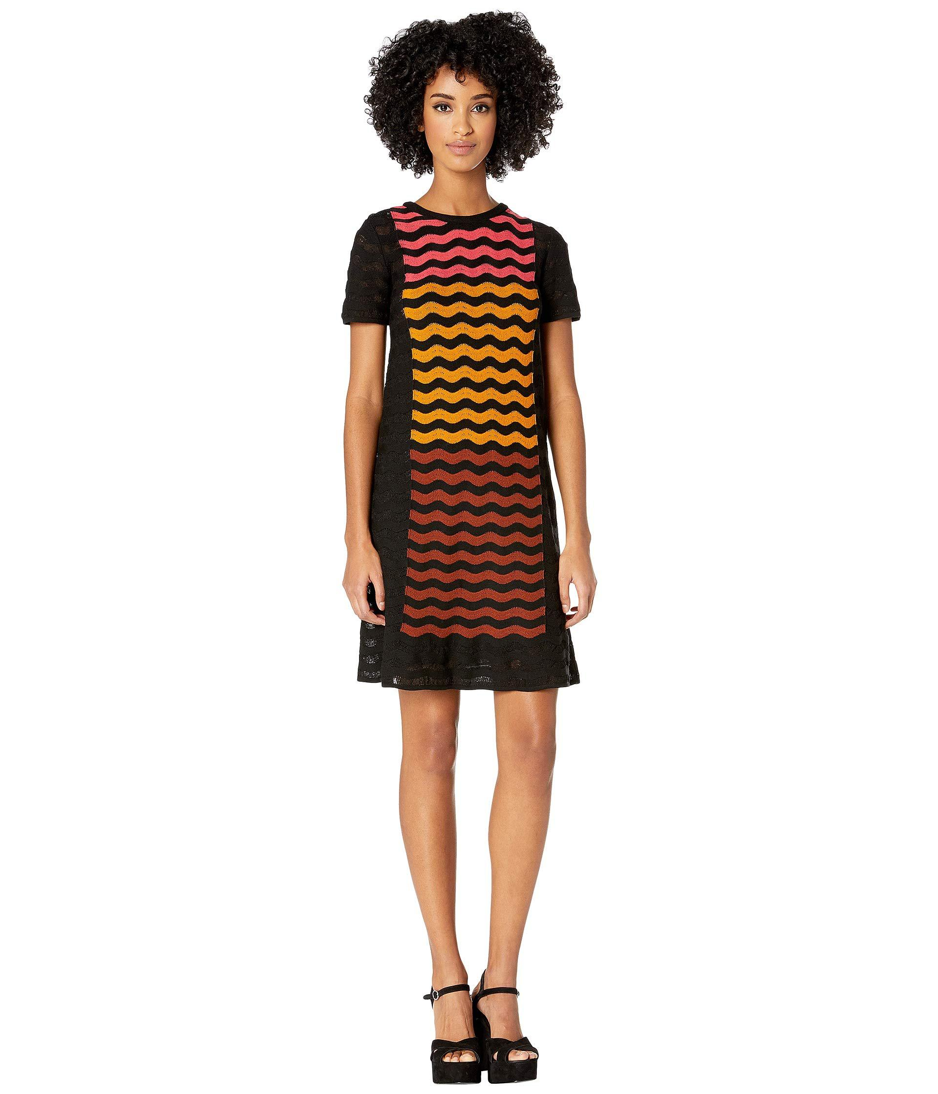 cb5447e139c9a9 M Missoni - Ripple Intarsia Short Sleeve Dress (black) Women s Dress -  Lyst. View fullscreen