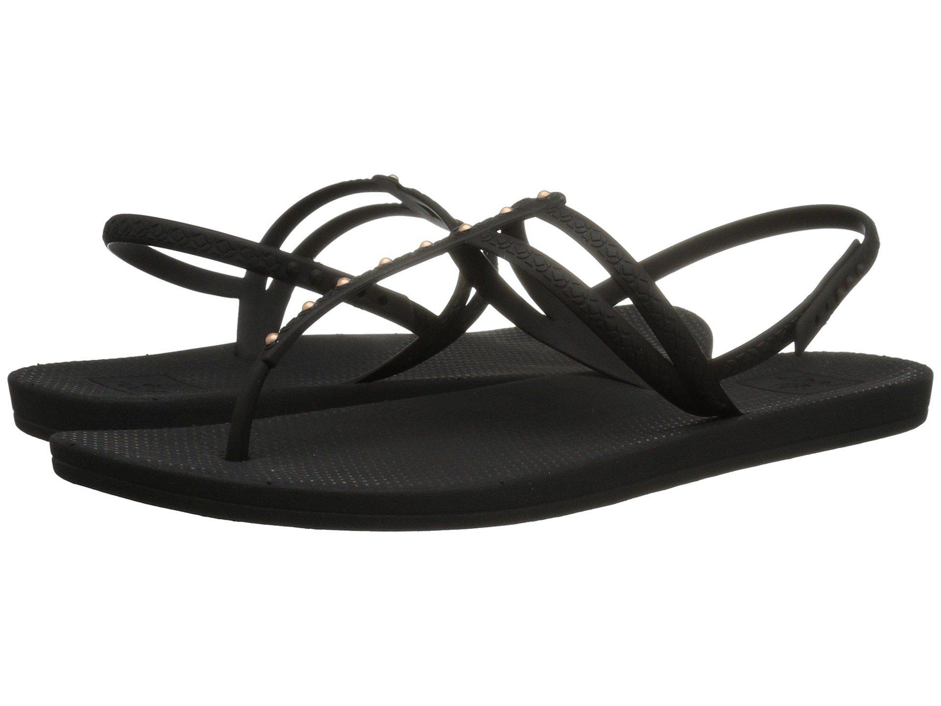dfad46152f1d Lyst - Reef Escape Lux T Stud (antique Black) Women s Sandals in Black