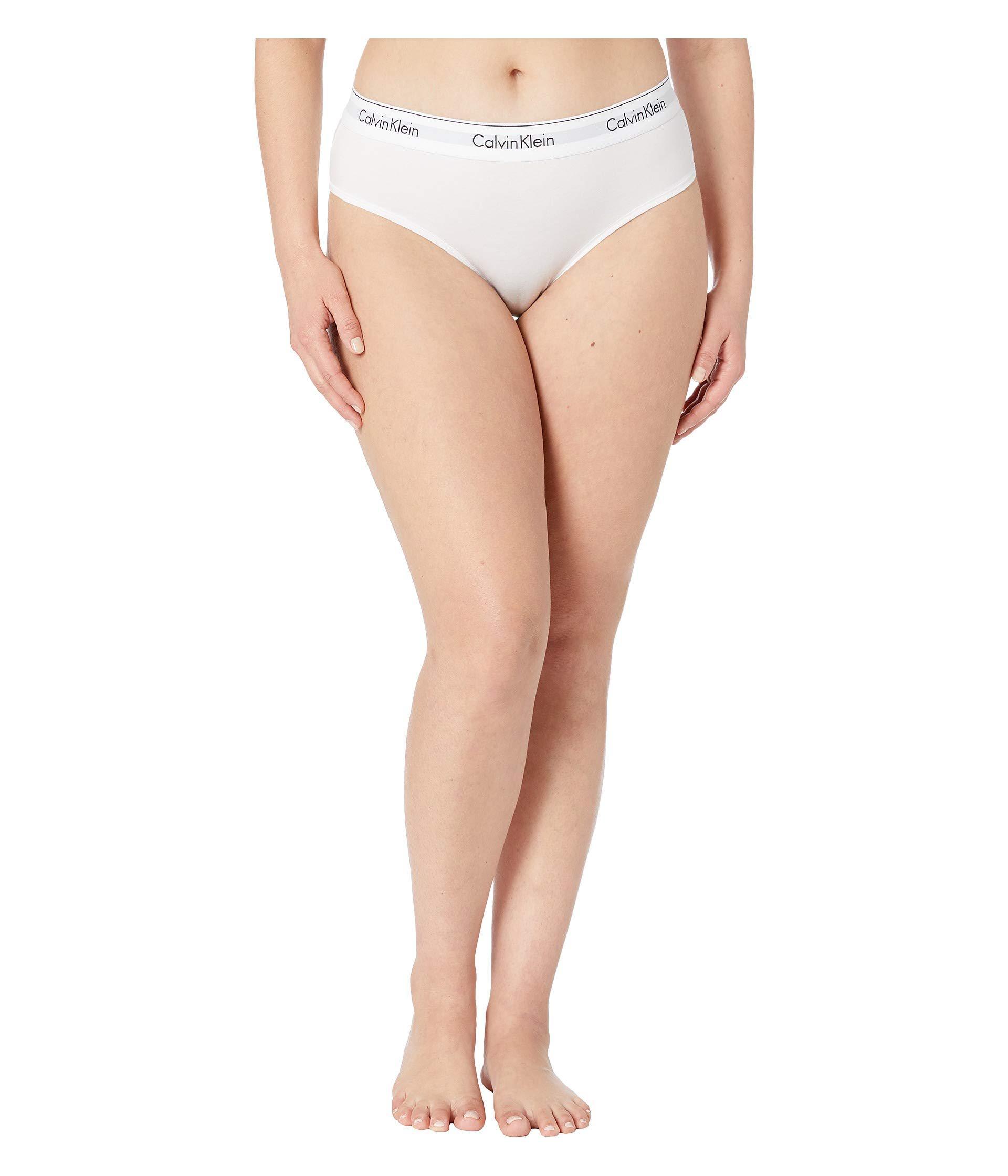e5607e7362 Calvin Klein - White Plus Size Modern Cotton Thong (black) Women s Underwear  - Lyst. View fullscreen