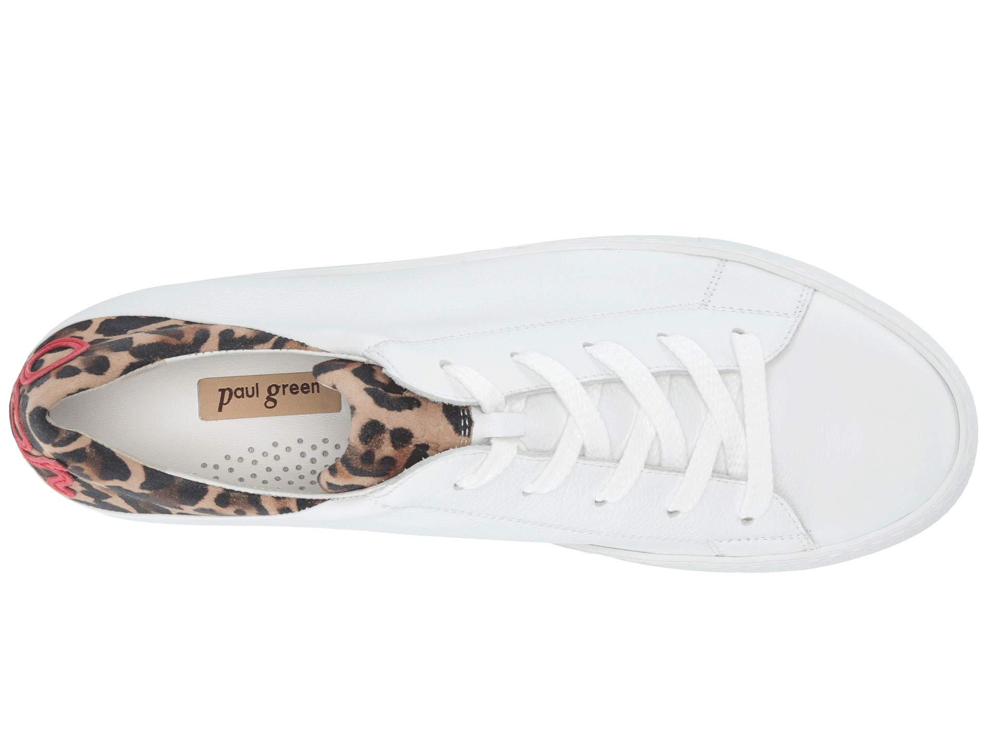 7ec4934e025f Paul Green - Ajay Sneaker (white Leopard Combo) Women's Lace Up Casual  Shoes -. View fullscreen