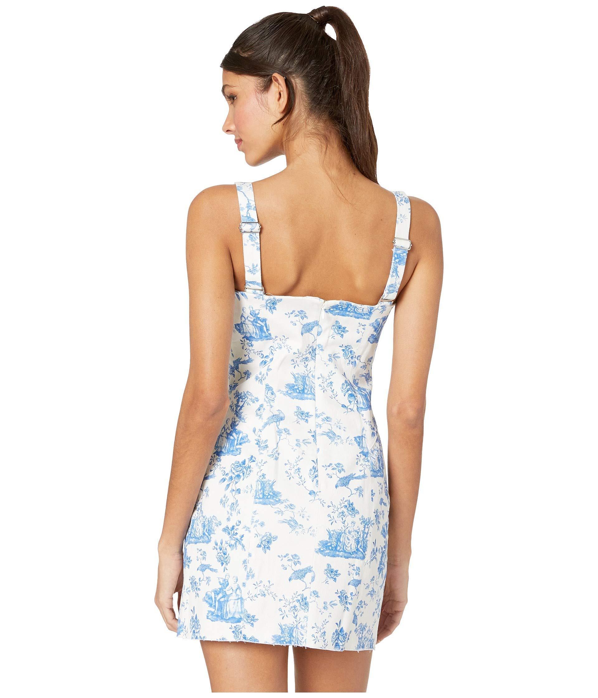 38eaec636103 For Love & Lemons - Blue X Revolve Monika Hook Front Mini Dress - Lyst.  View fullscreen