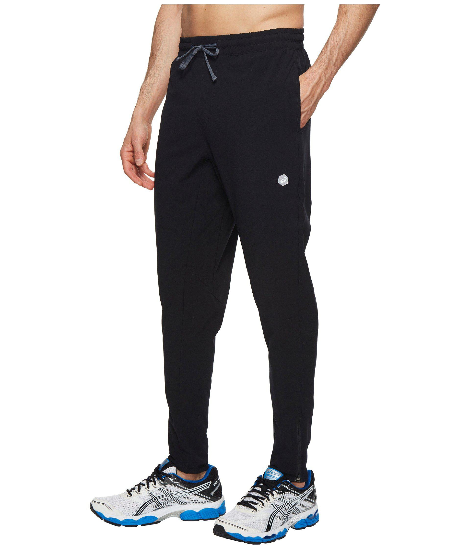 903db45d5369 Lyst - Asics Run Woven Track Pants (castlerock) Men s Workout in Black for  Men