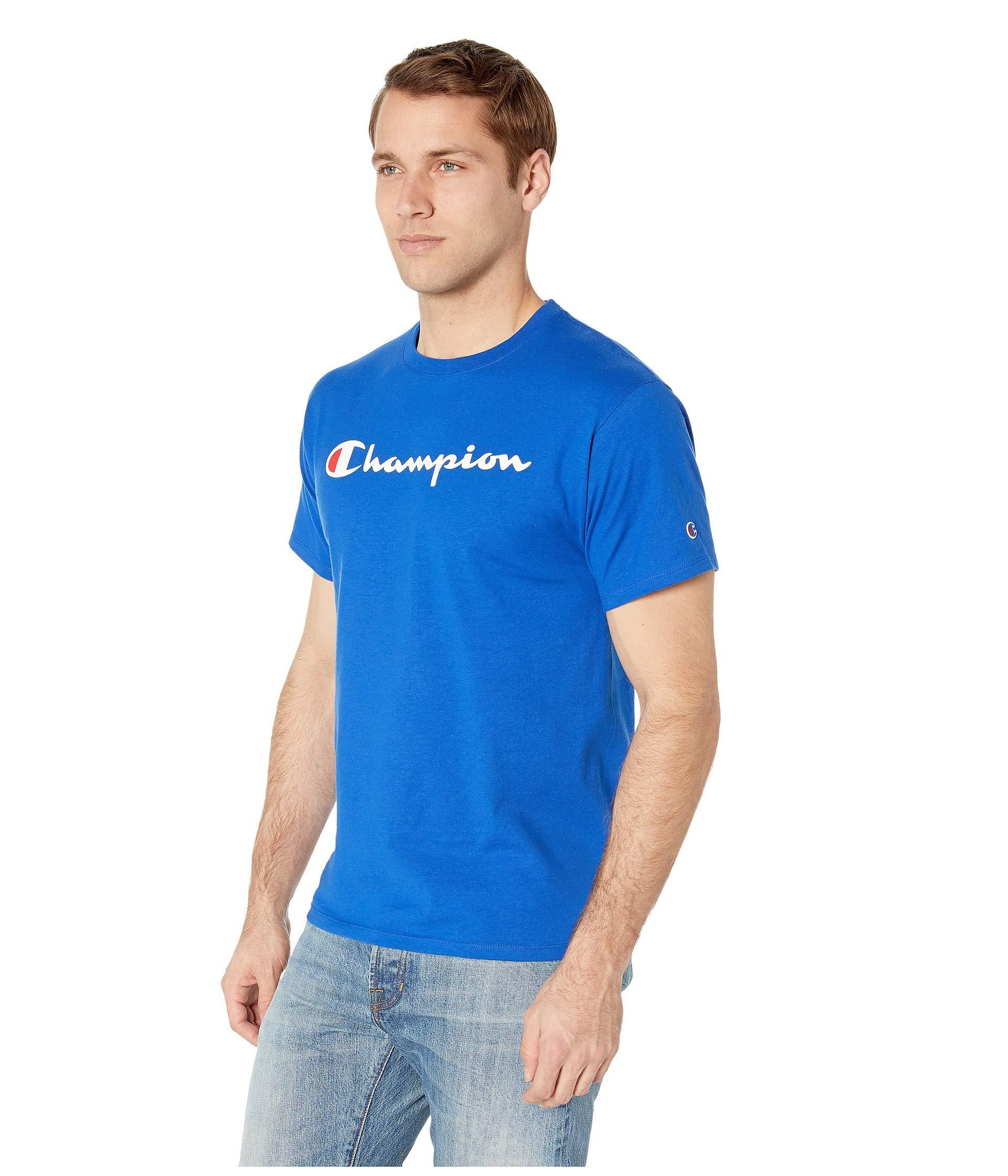 f238e1d5 Lyst - Champion Classic Jersey Graphic Tee (black) Men's T Shirt in Blue  for Men