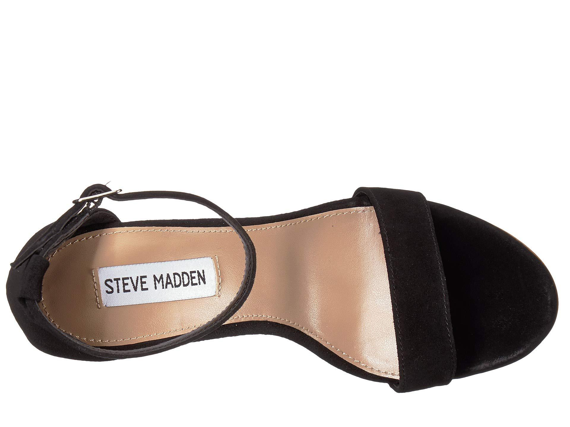 6db6b4af124676 Steve Madden - Mary Wedge Sandal (black Suede) Women s Sandals - Lyst. View  fullscreen
