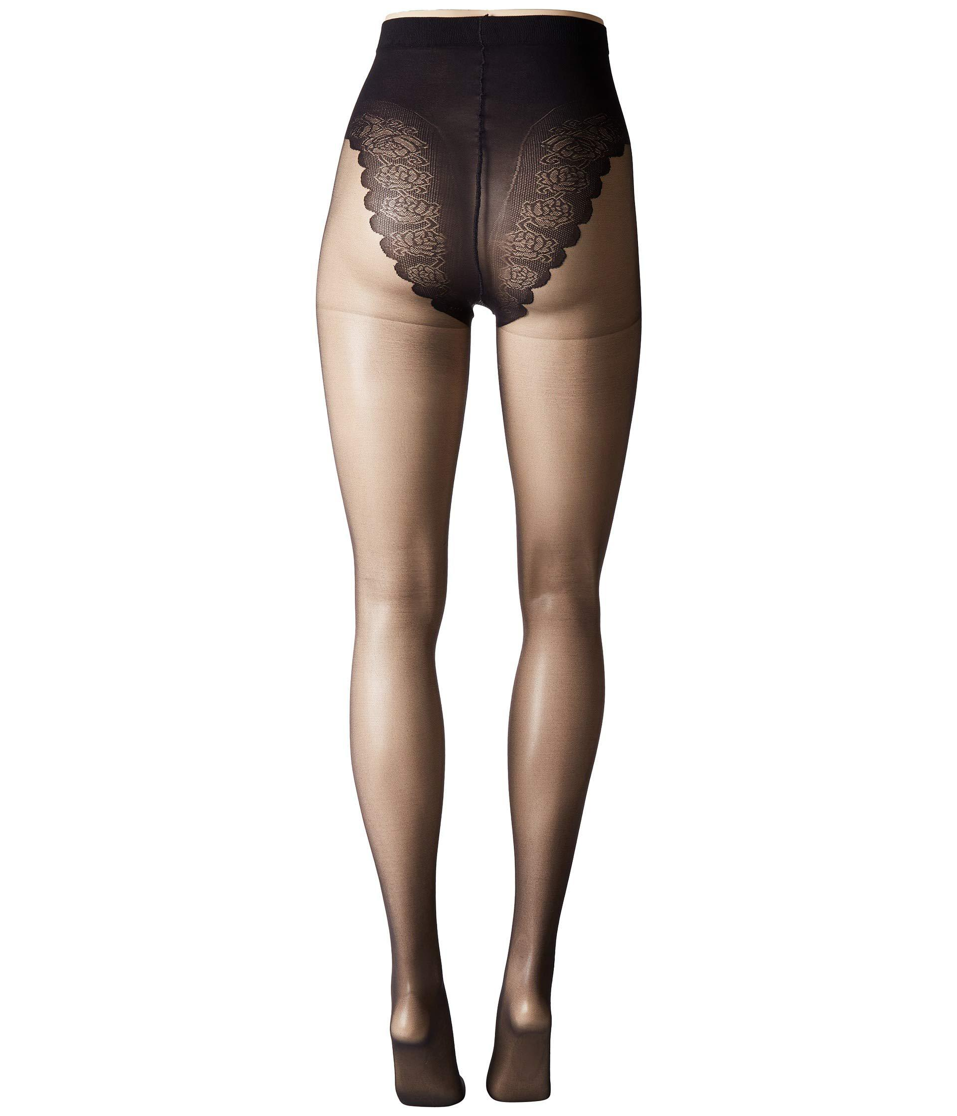 e980c89c9d28c Hue So Sexy French Lace Sheer Control Top Pantyhose (3-pack) (black ...