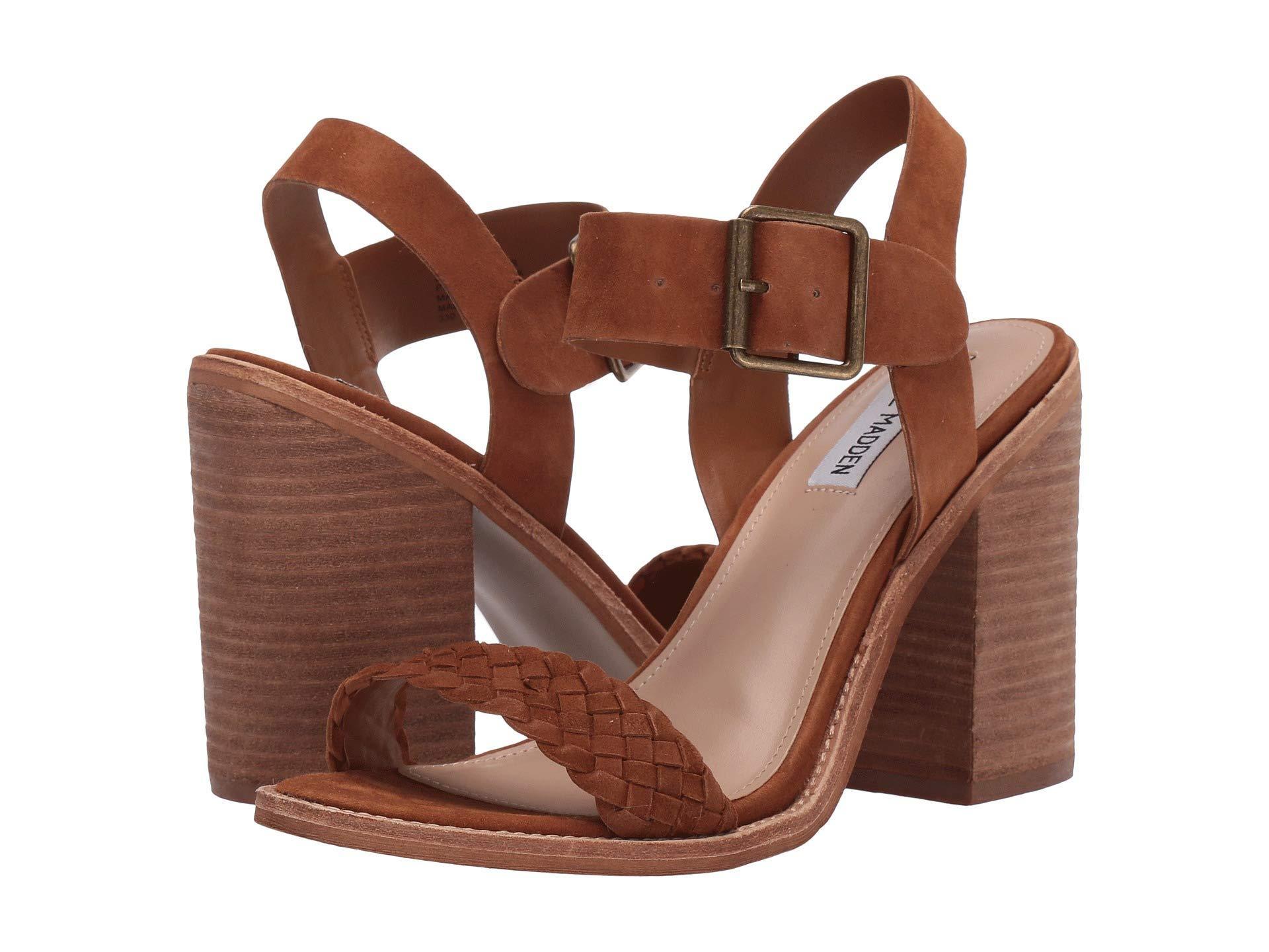 7e43a9af3e7 Lyst - Steve Madden Cadence Heeled Sandal (white Leather) High Heels ...