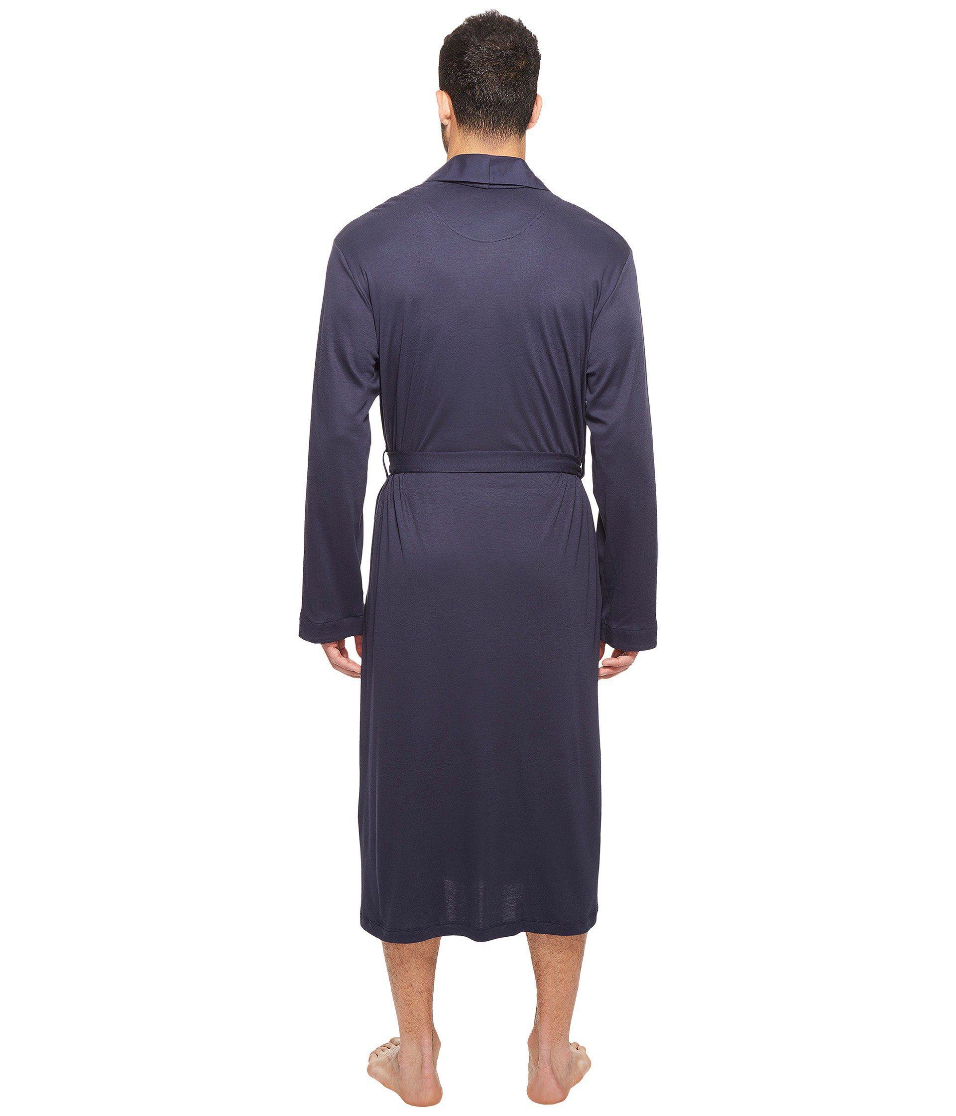 715407e808 Hanro - Blue Night And Day Robe (black Iris) Men s Robe for Men -. View  fullscreen