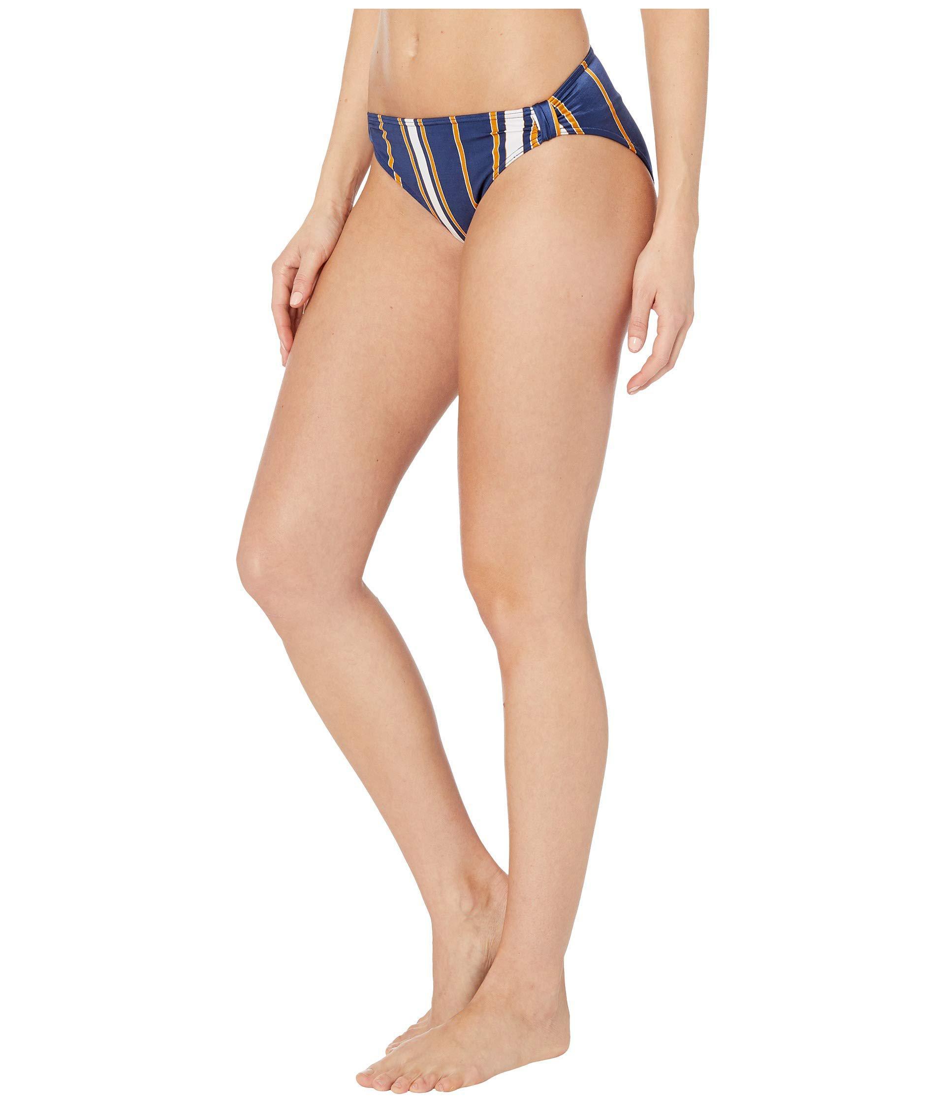 d7ed63539e Lyst - Roxy Romantic Senses Full Coverage Bikini Bottoms (medieval Blue Macy  Stripe Swim) Women s Swimwear in Blue