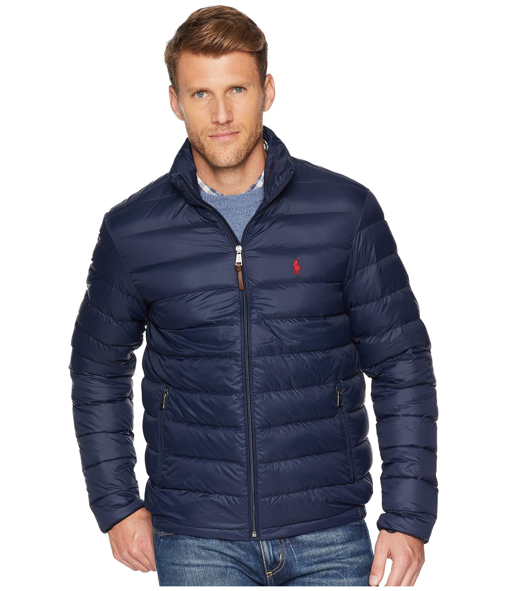 998b512b4510 Polo Ralph Lauren. Blue Lightweight Packable Down Jacket (aviator Navy) Men s  Coat