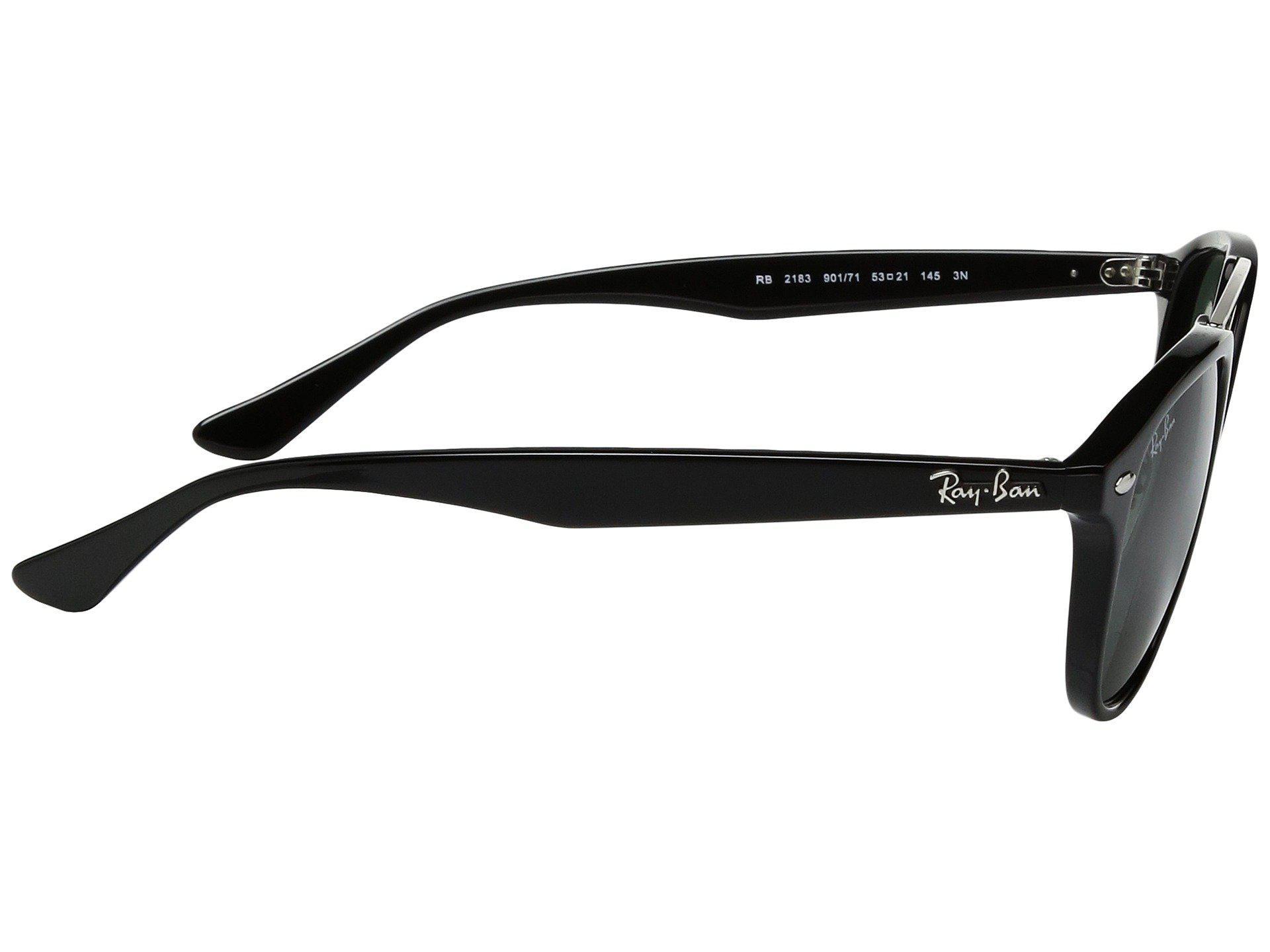 9db3c04229 Ray-Ban - 0rb2183 53mm (black Frame dark Green Lens) Fashion Sunglasses.  View fullscreen