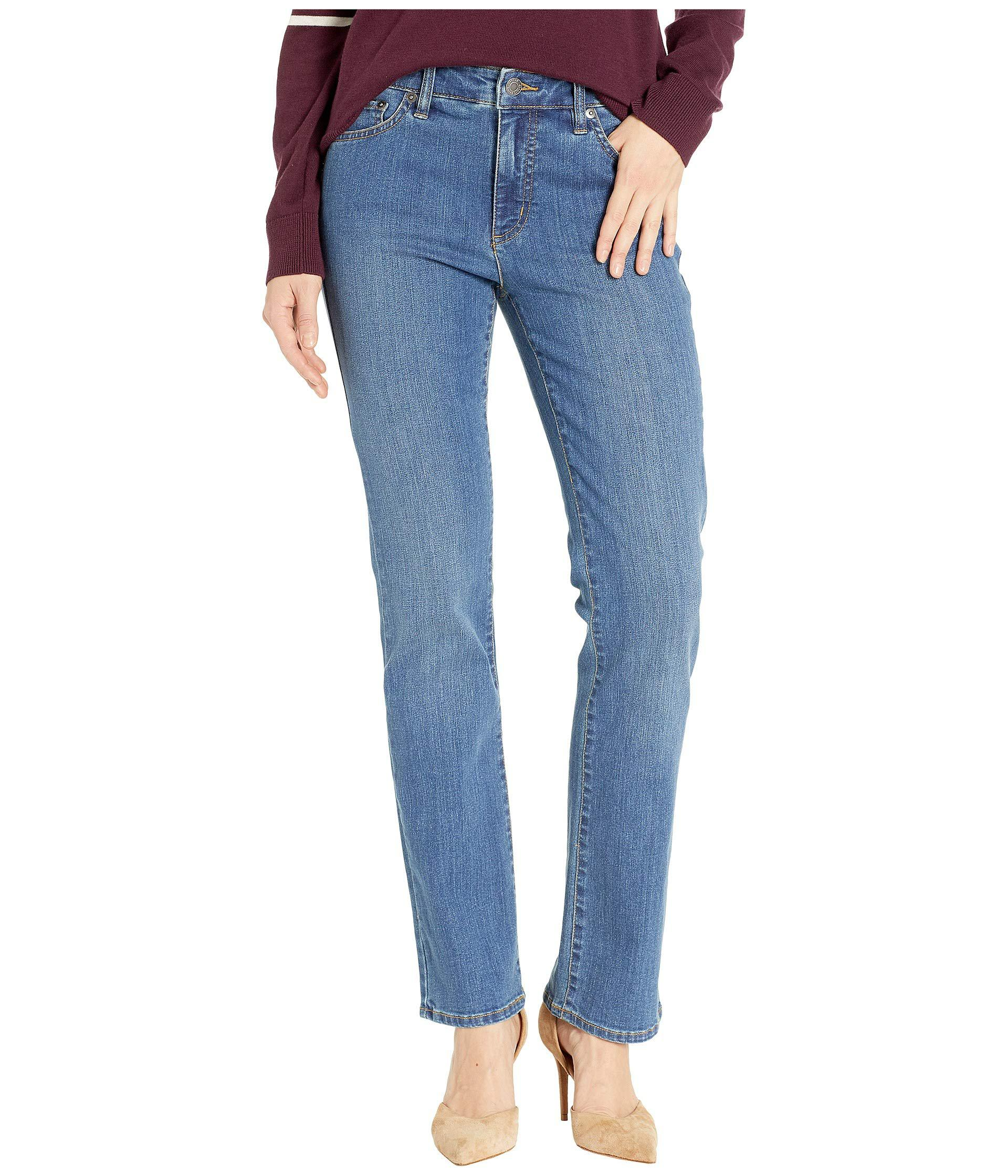 ca18cb9c991cc Lyst - Lauren By Ralph Lauren Premier Straight Jeans (ocean Blue ...