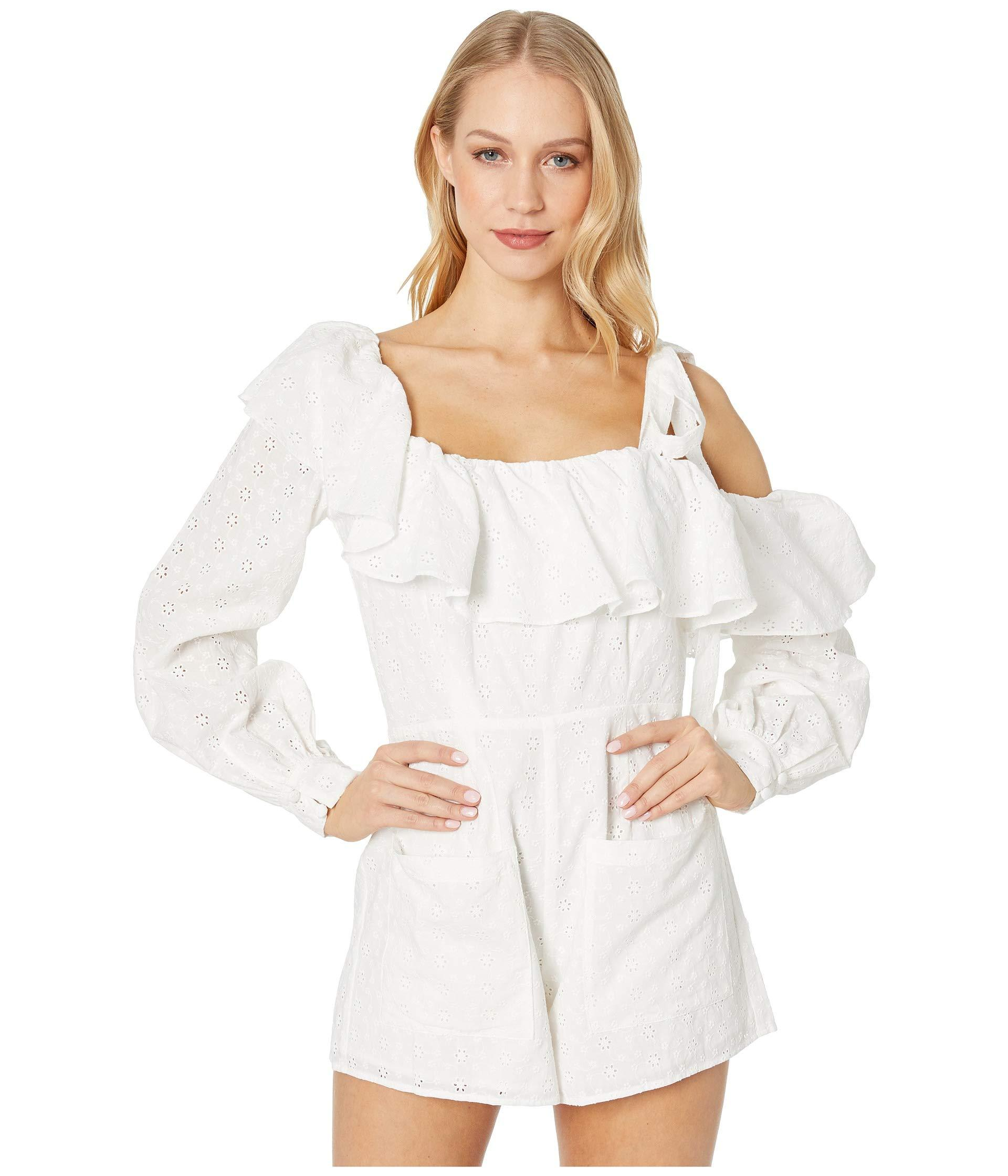 209997aae6d8 Lyst - For Love   Lemons Bora Bora Romper (white) Women s Jumpsuit ...