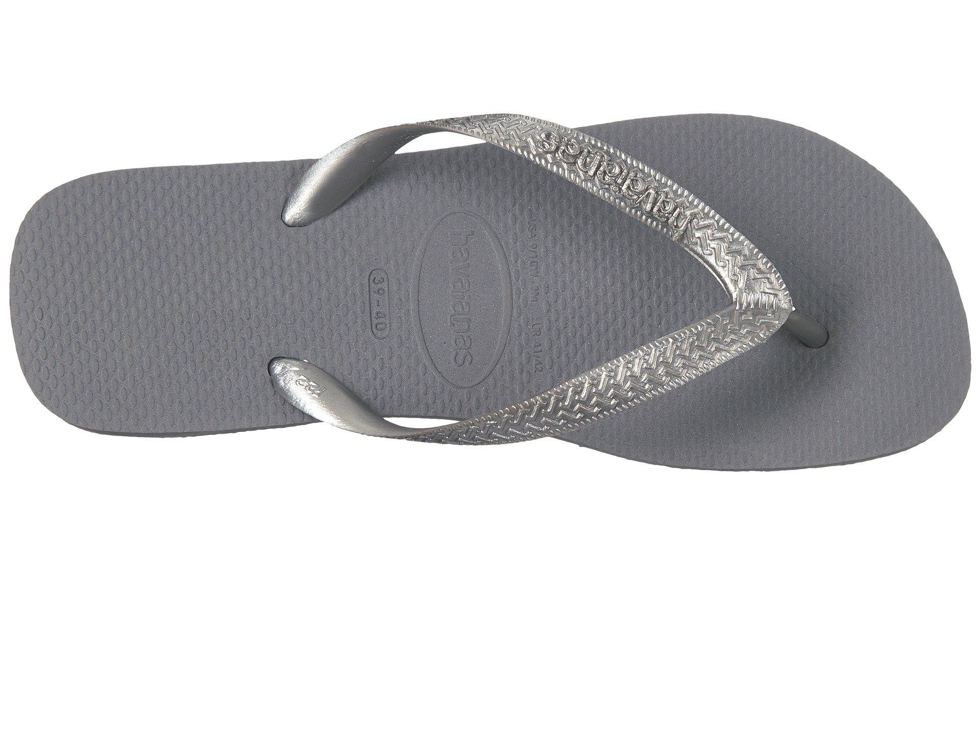 b5d4110b74cf9b Lyst - Havaianas Top Tiras Flip-flops (steel Grey) Women s Sandals ...