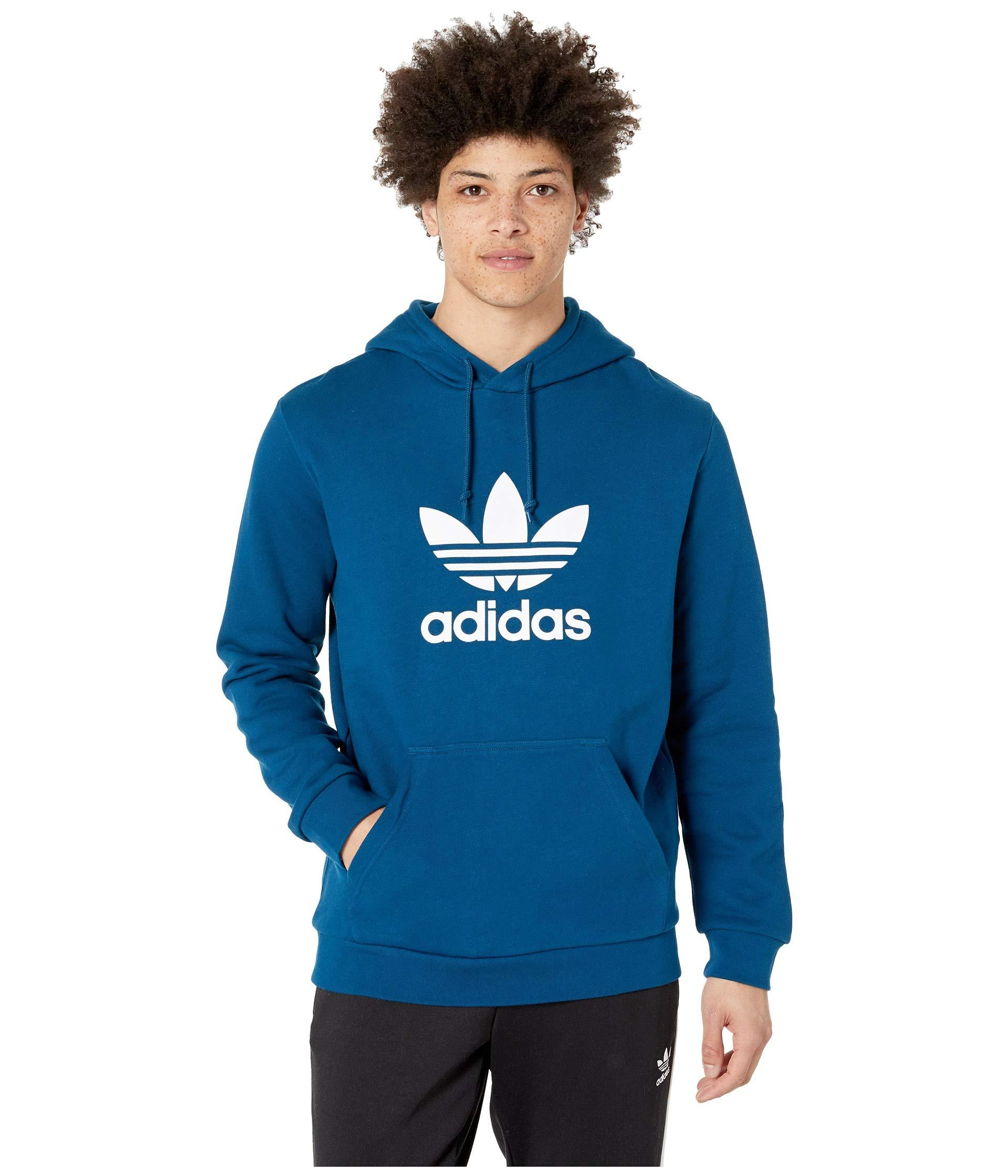 f717bd2df369 Lyst - adidas Originals Trefoil Hoodie (medium Grey Heather) Men s ...