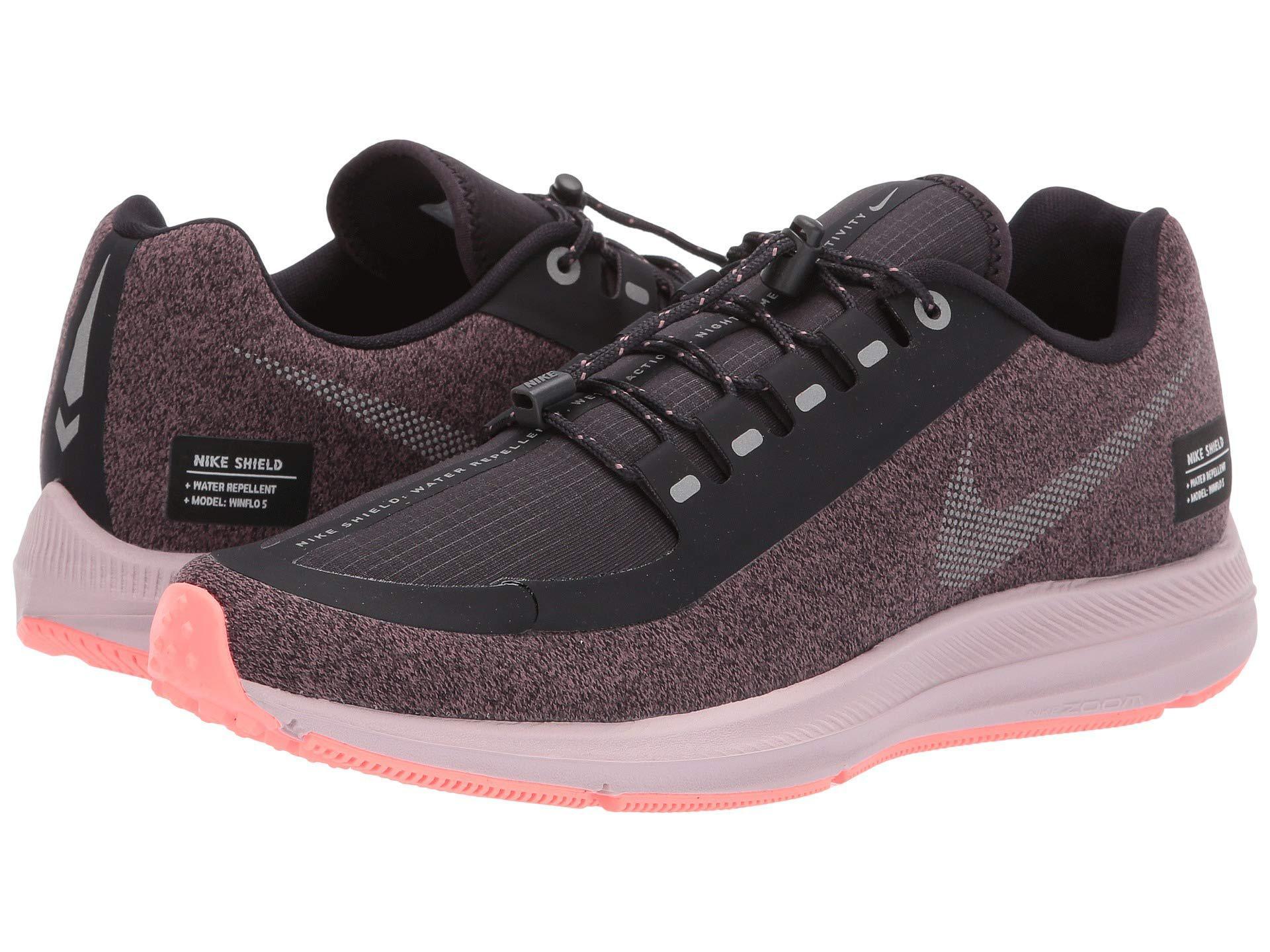 70e47c314de1 Nike. Air Zoom Winflo 5 Run Shield (smokey Mauve metallic Silver oil Grey) Women s  Running Shoes