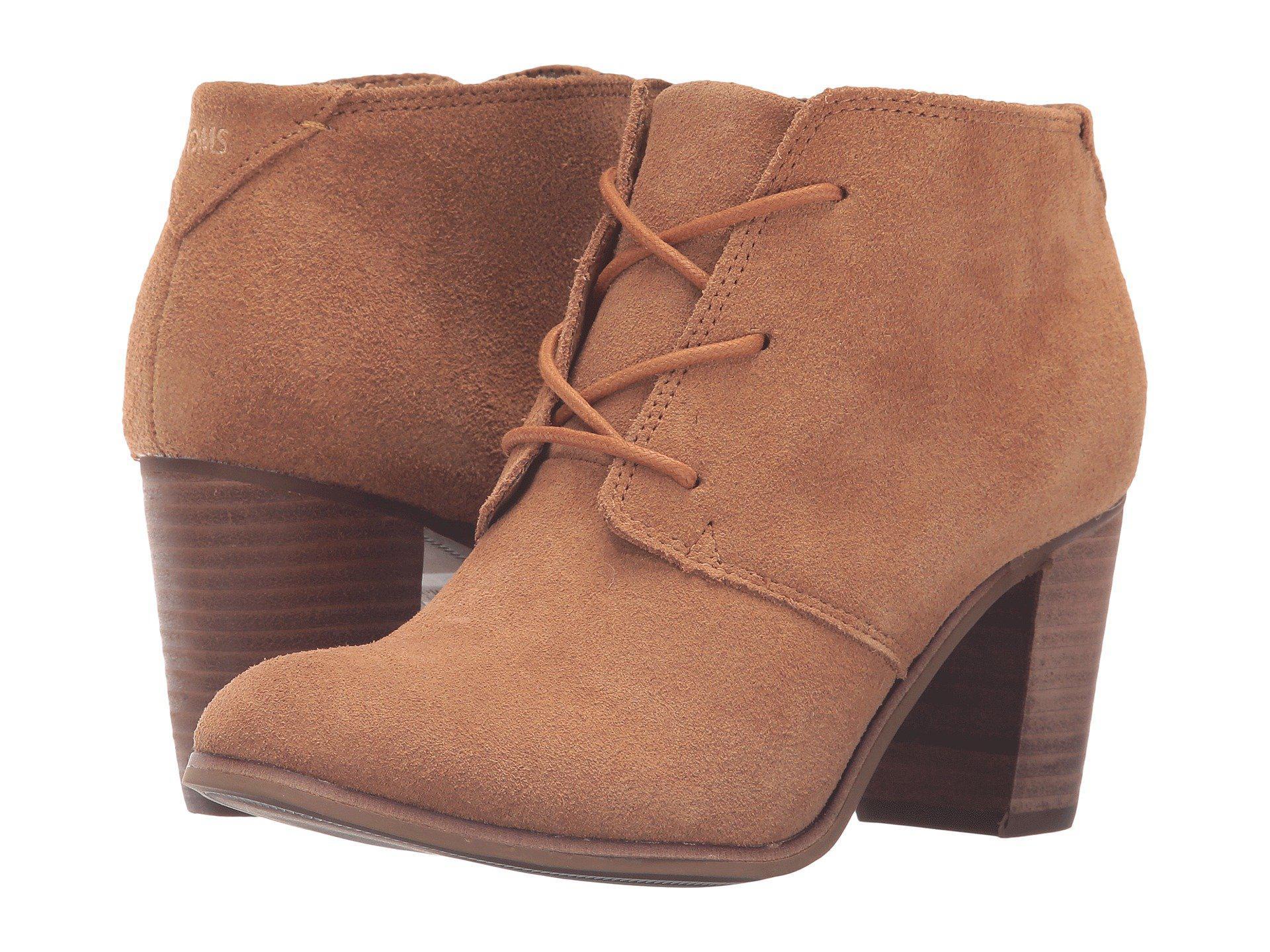 b50f251e987 Lyst - TOMS Lunata Lace-up Bootie (wheat Suede) Women s Lace-up Boots