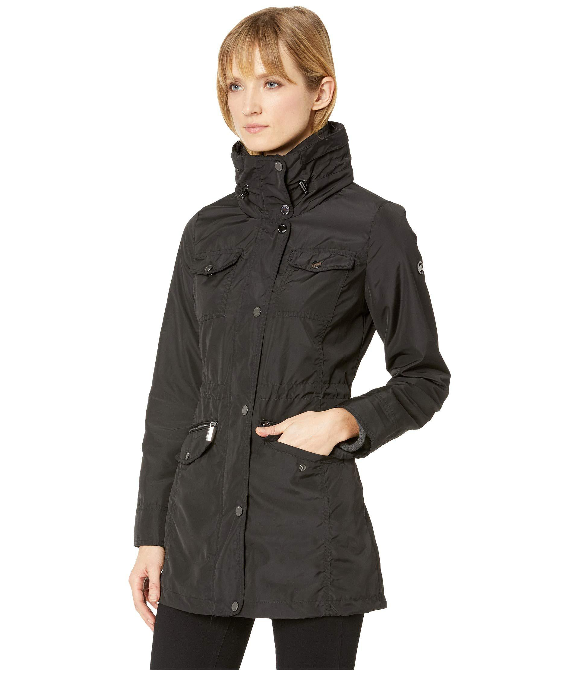 02775de43c9 Lyst - MICHAEL Michael Kors Snap Front Multi Pocket Rain Jacket M322930gz ( black) Women s Coat in Black