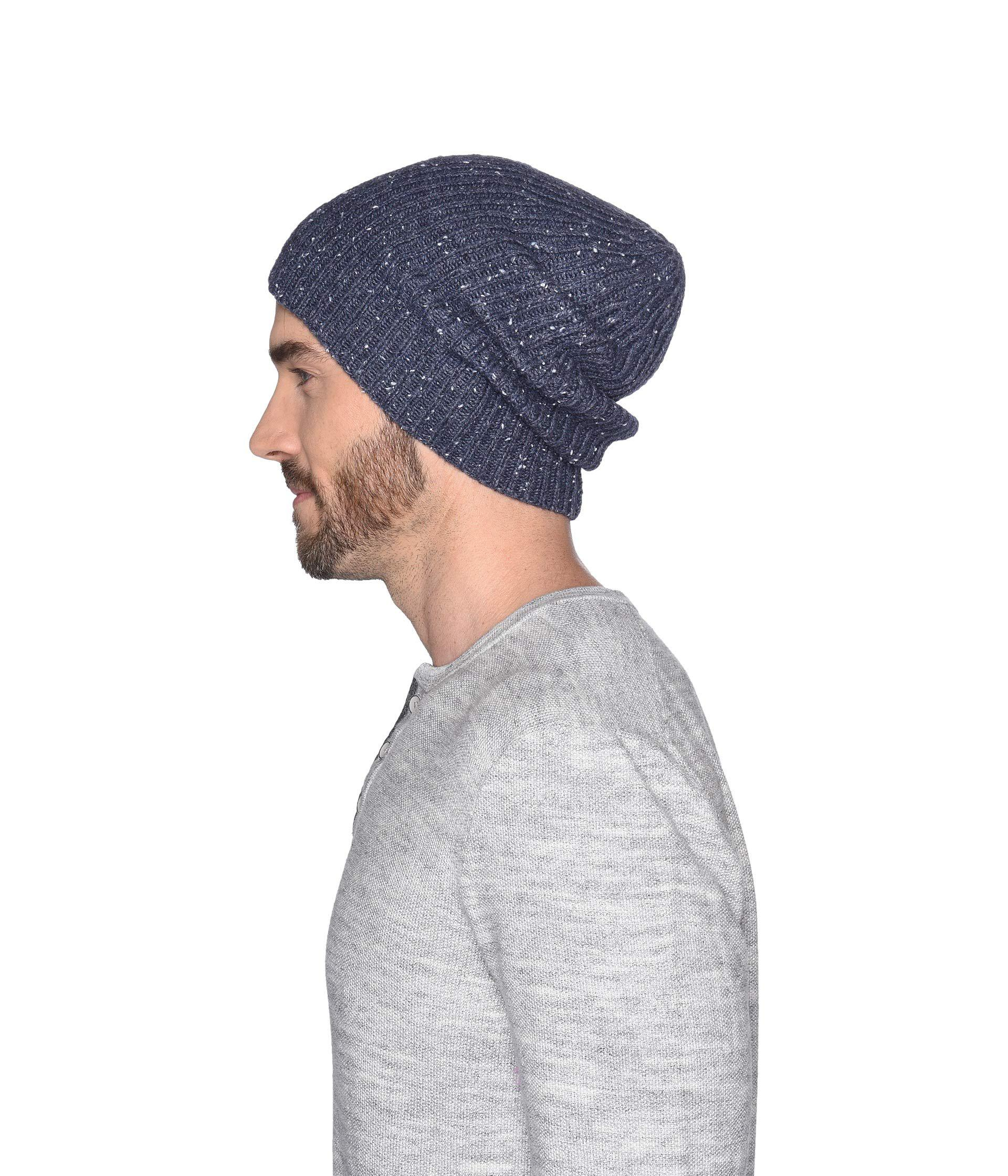 ad1c97feb01 Lyst - UGG Stonewashed Cuff Knit Hat (oceanic Heather) Beanies in ...