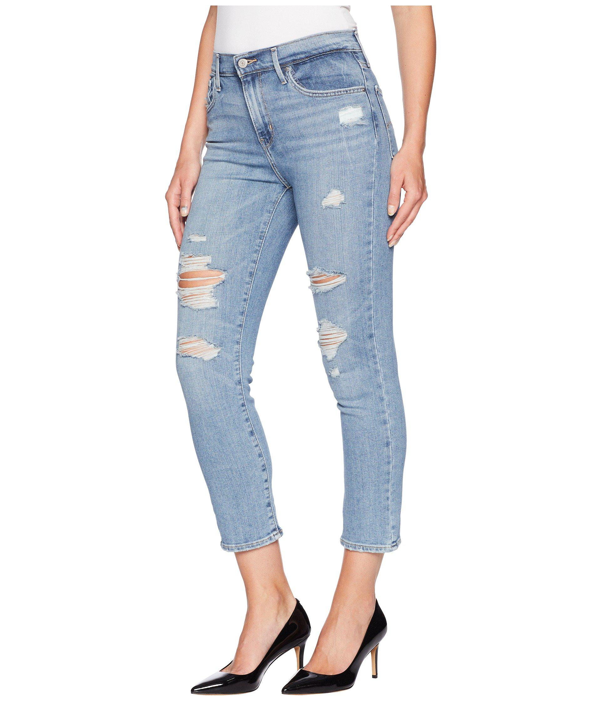 1c25b6ae4e6b7 Lyst - Levi s Levi s(r) Womens 724 High-rise Straight Crop (perfect  Mistake) Women s Jeans in Blue