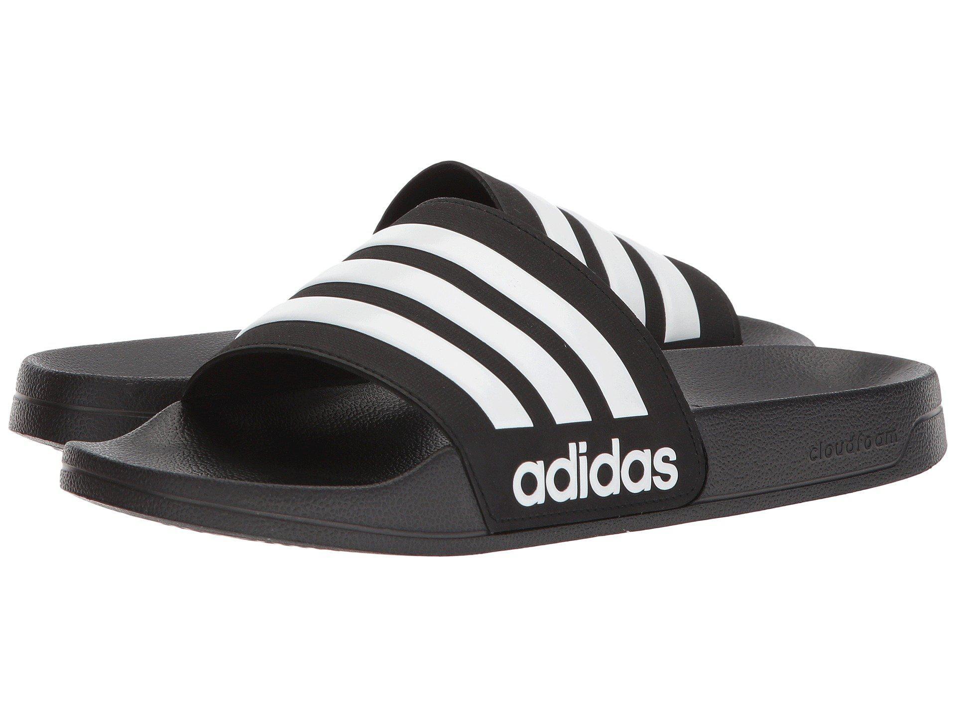 127ed5d5d5b35d Adidas - Adilette Cf (black white black) Men s Slide Shoes for Men. View  fullscreen