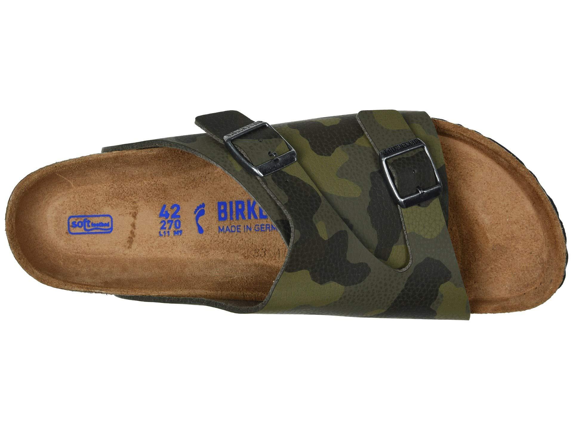 cbb0a66e0763 Birkenstock - Zurich Soft Footbed (desert Soil Camo Green Birko-flor) Men's  Slide. View fullscreen