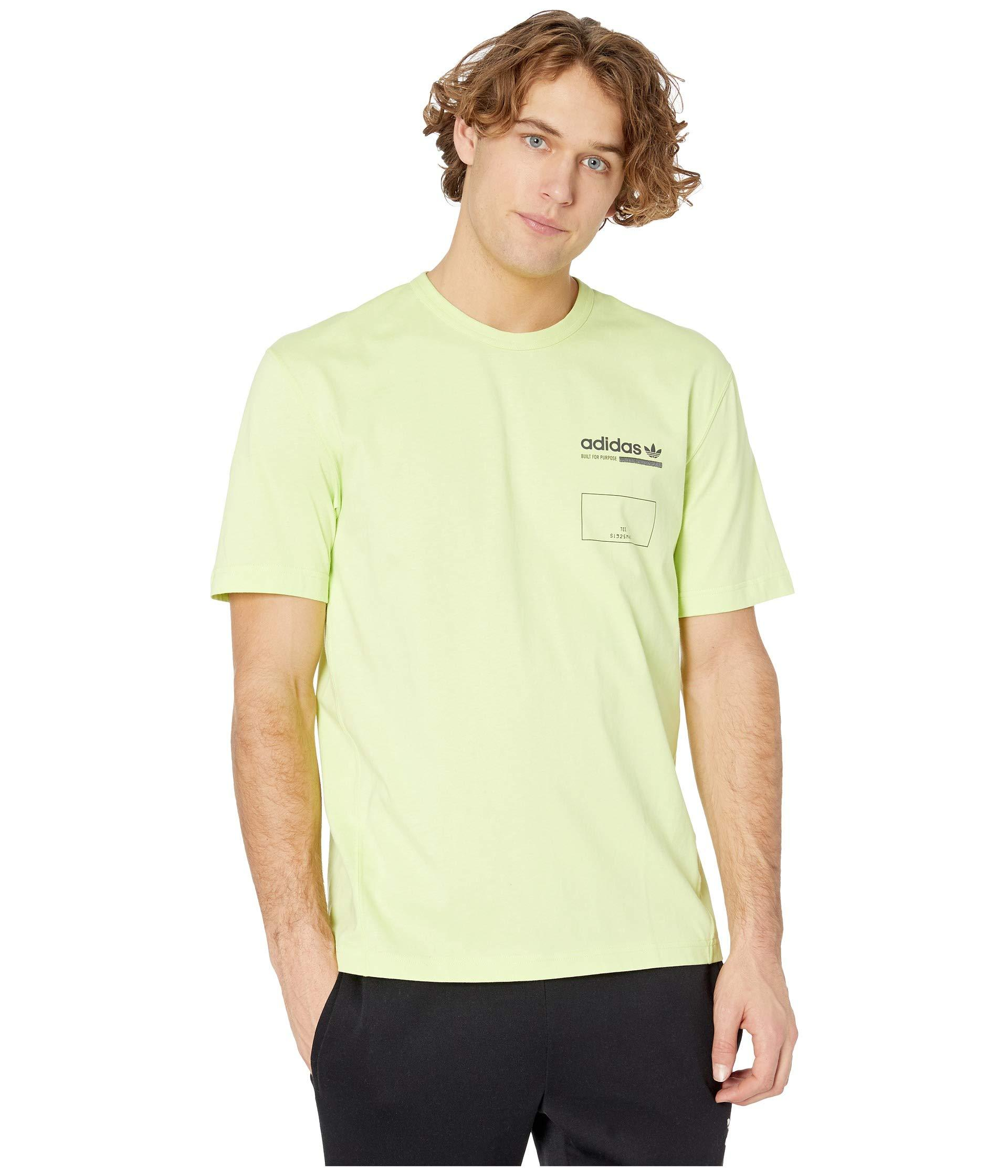 931de78c adidas Originals Kaval Graphic Tee (semi Frozen Yellow) Men's T ...