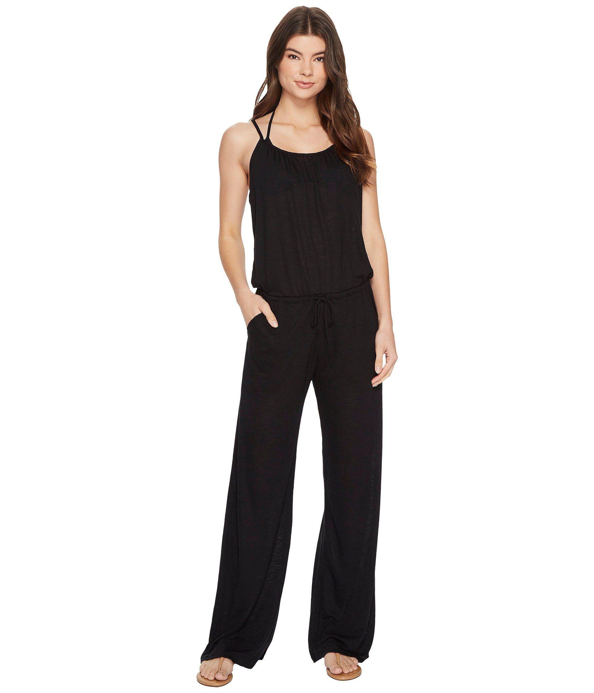 7b00f914e5 Becca Breezy Basics Jumpsuit Cover-up in Black - Lyst