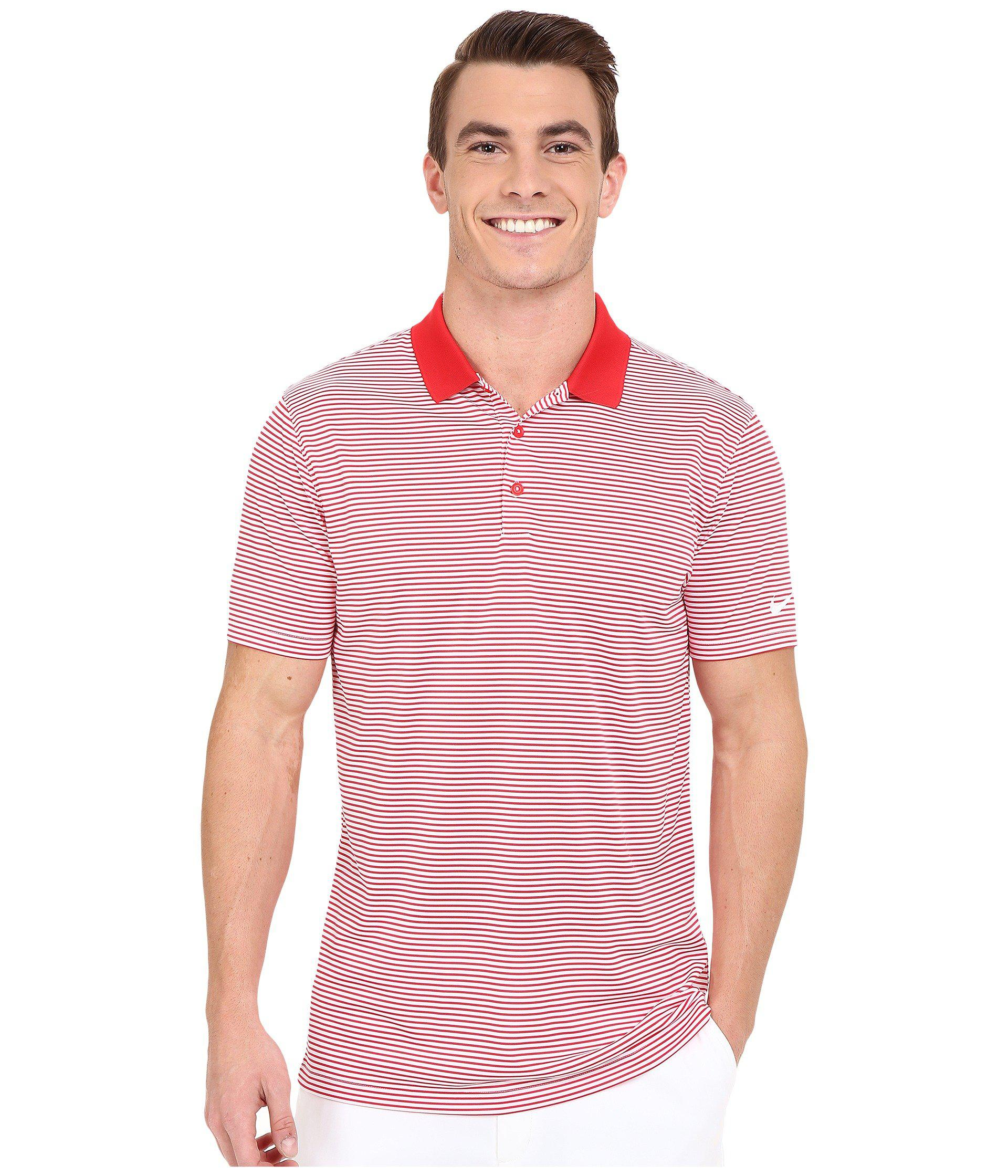 071b823d Nike Victory Mini Stripe Polo in Red for Men - Lyst