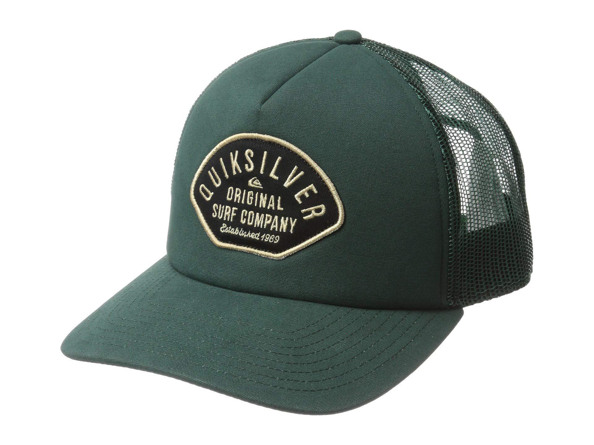 ... coupon code for lyst quiksilver papa duece curve hat white caps in  green for men eba13 a2e5de23b7b