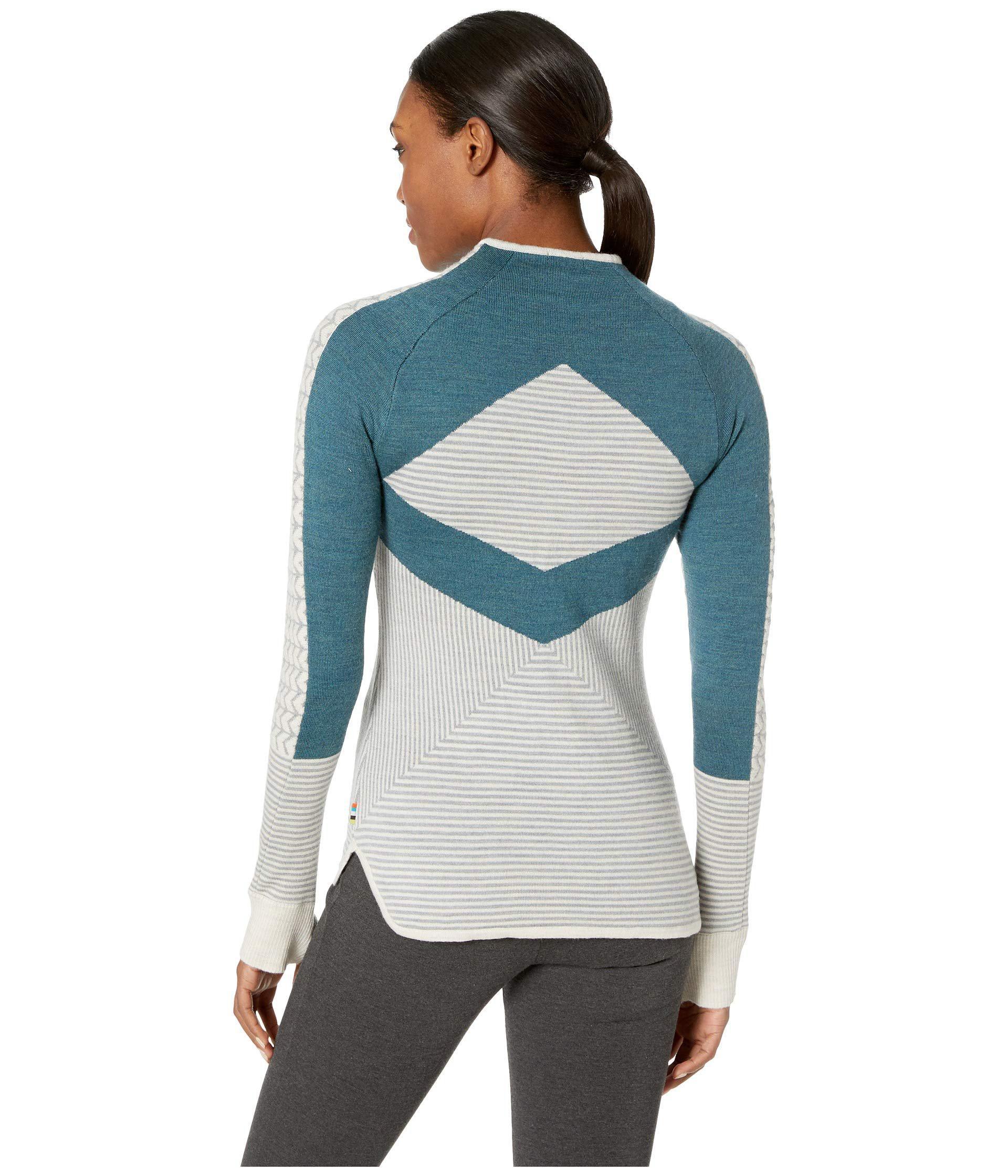 f4b41697e33735 Smartwool Dacono Ski Full Zip Sweater (moonbeam Heather) Women's ...