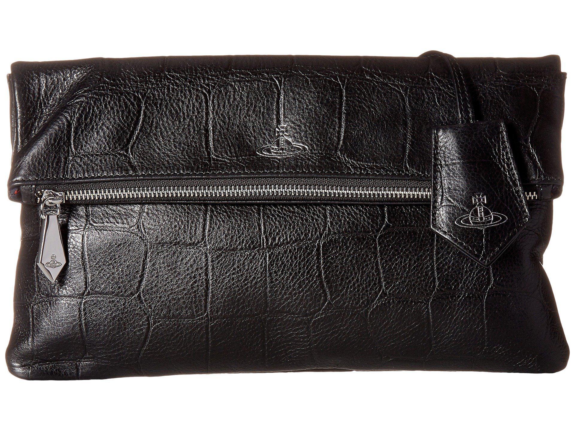 98d95c9f60 Vivienne Westwood Canterbury Clutch in Black - Lyst