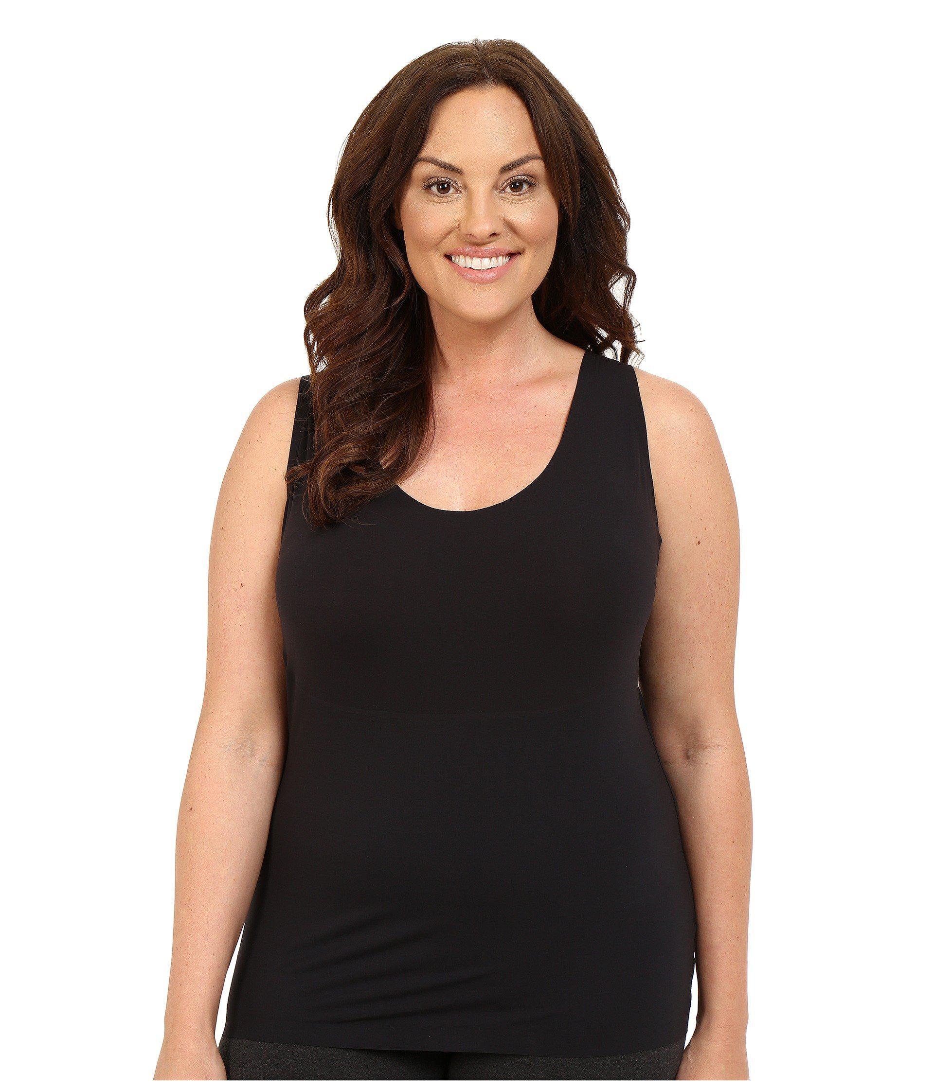 5845b2dcb86 Lyst - Spanx Plus Size Thinstincts Tank (soft Nude) Women s ...