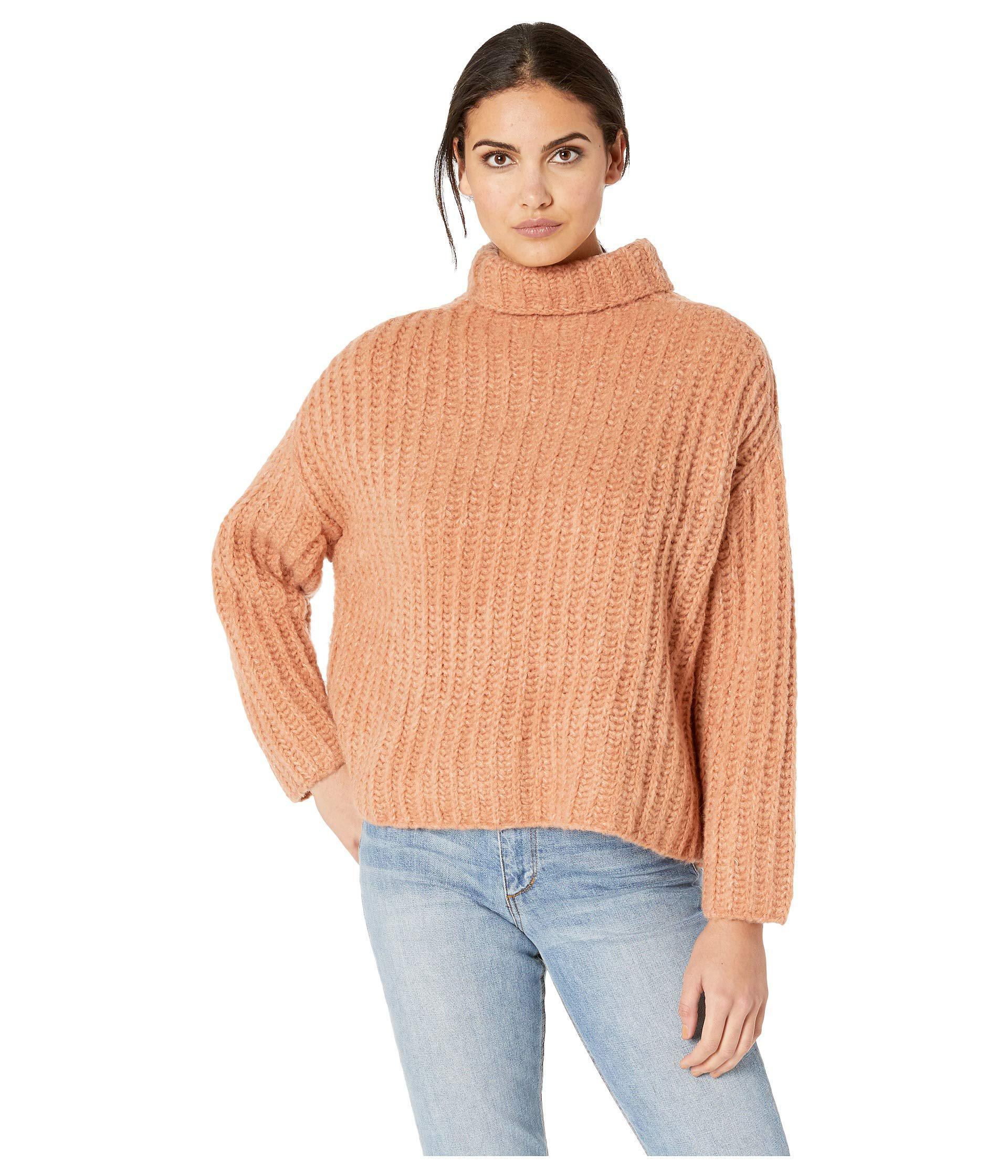 1816f76aa33139 Lyst - Free People Fluffy Fox Sweater (pearl) Women s Clothing in Orange